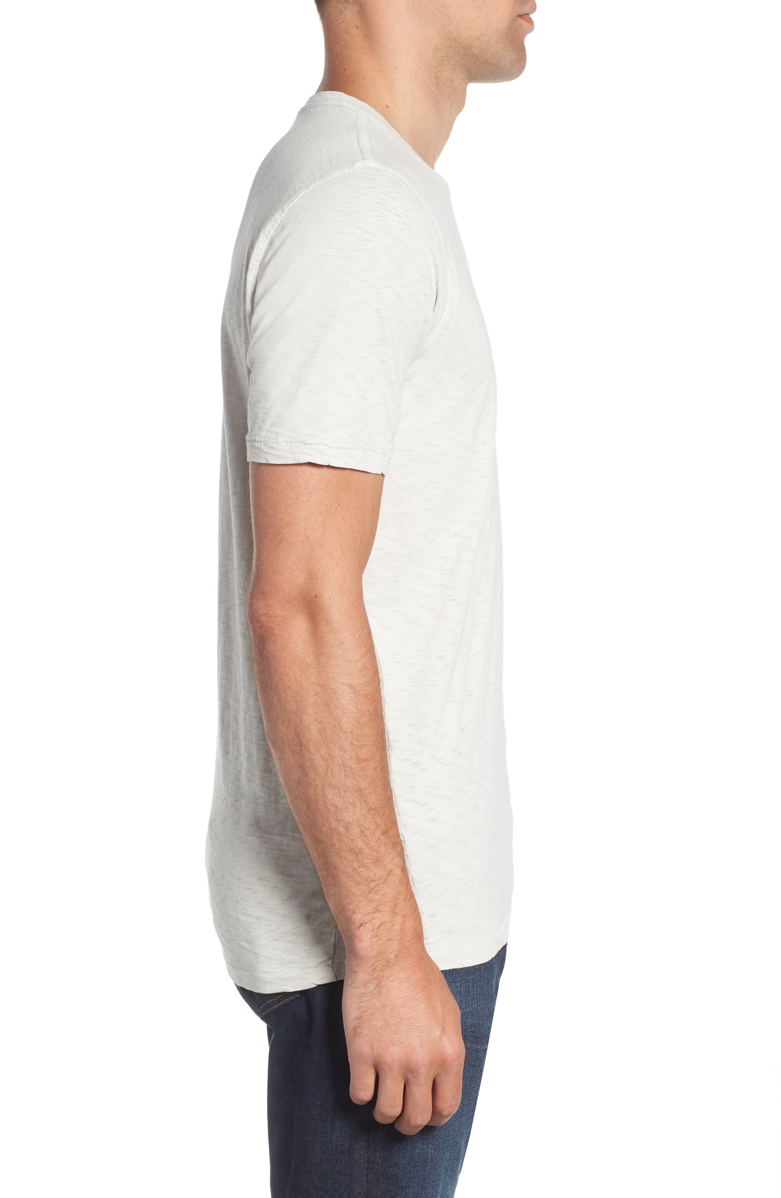 VINTAGE 1946, Negative Slub Knit T-Shirt, Alternate thumbnail 3, color, SMOKE