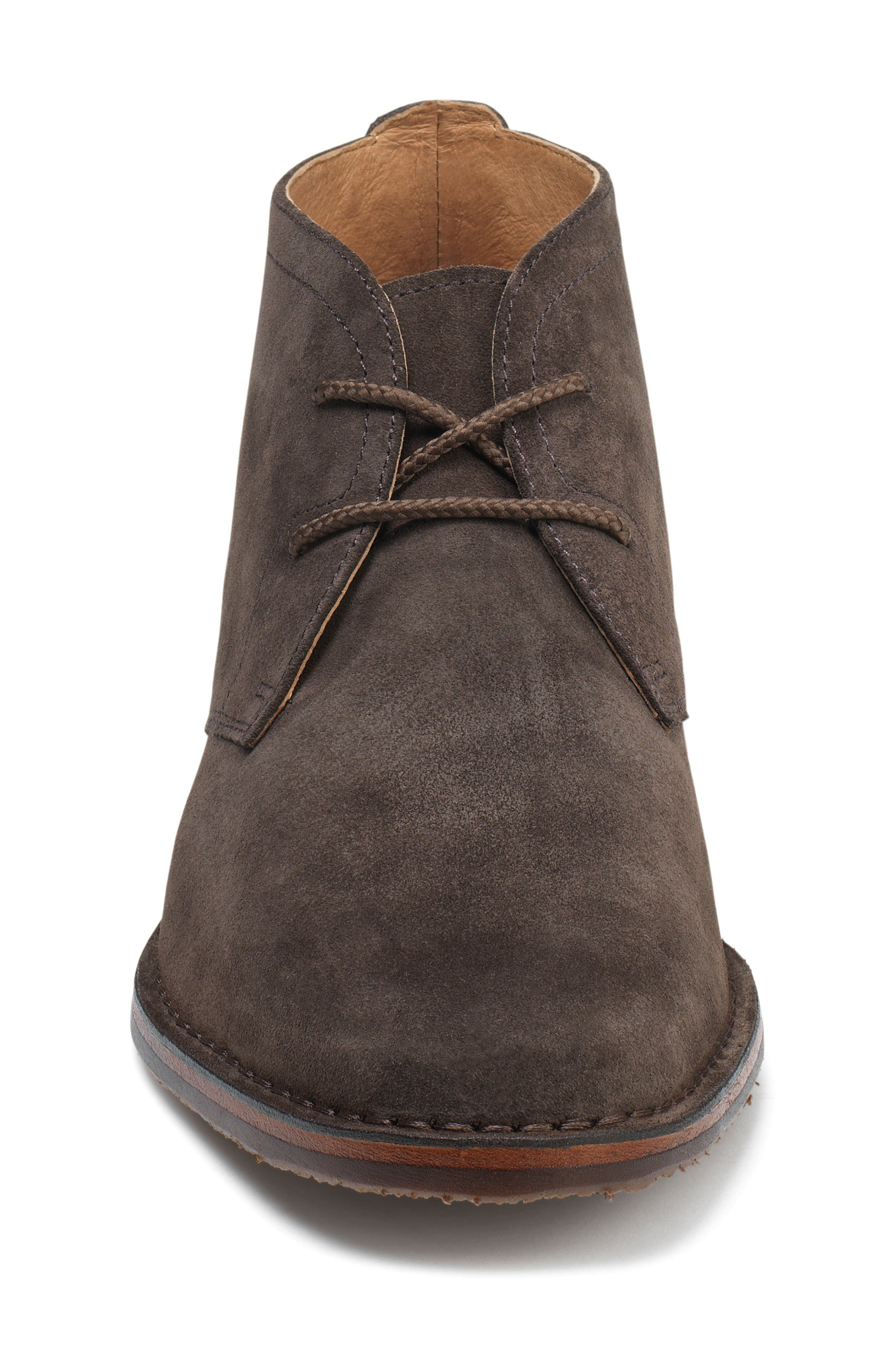 TRASK, 'Brady' Chukka Boot, Alternate thumbnail 3, color, GRAY SUEDE