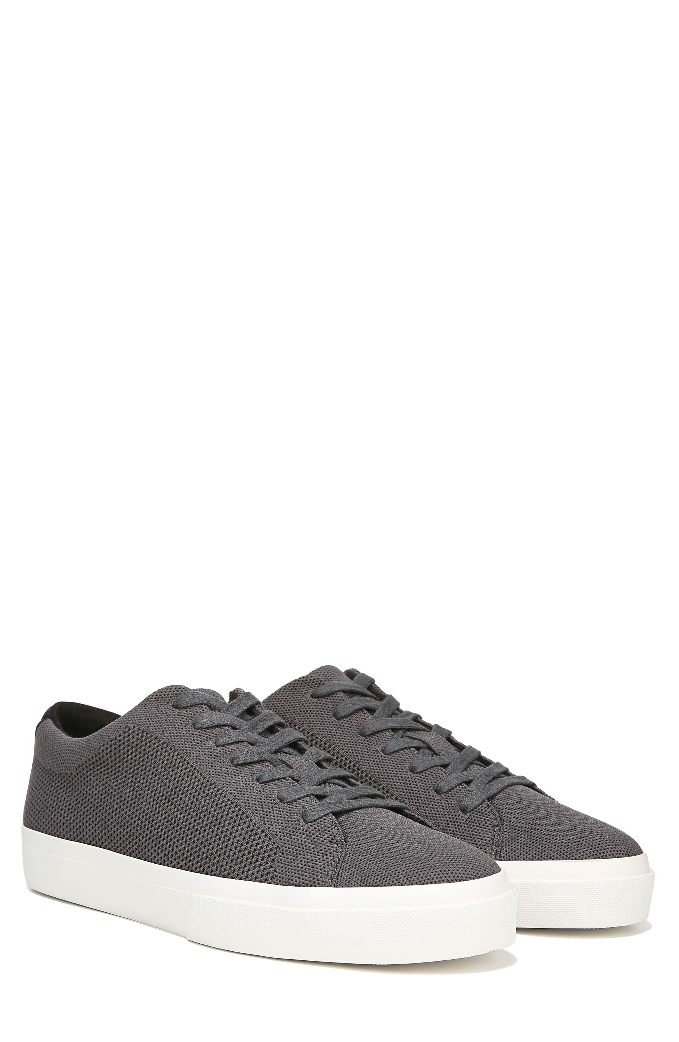 VINCE, Farrell Sneaker, Alternate thumbnail 8, color, GRAPHITE/ BLACK