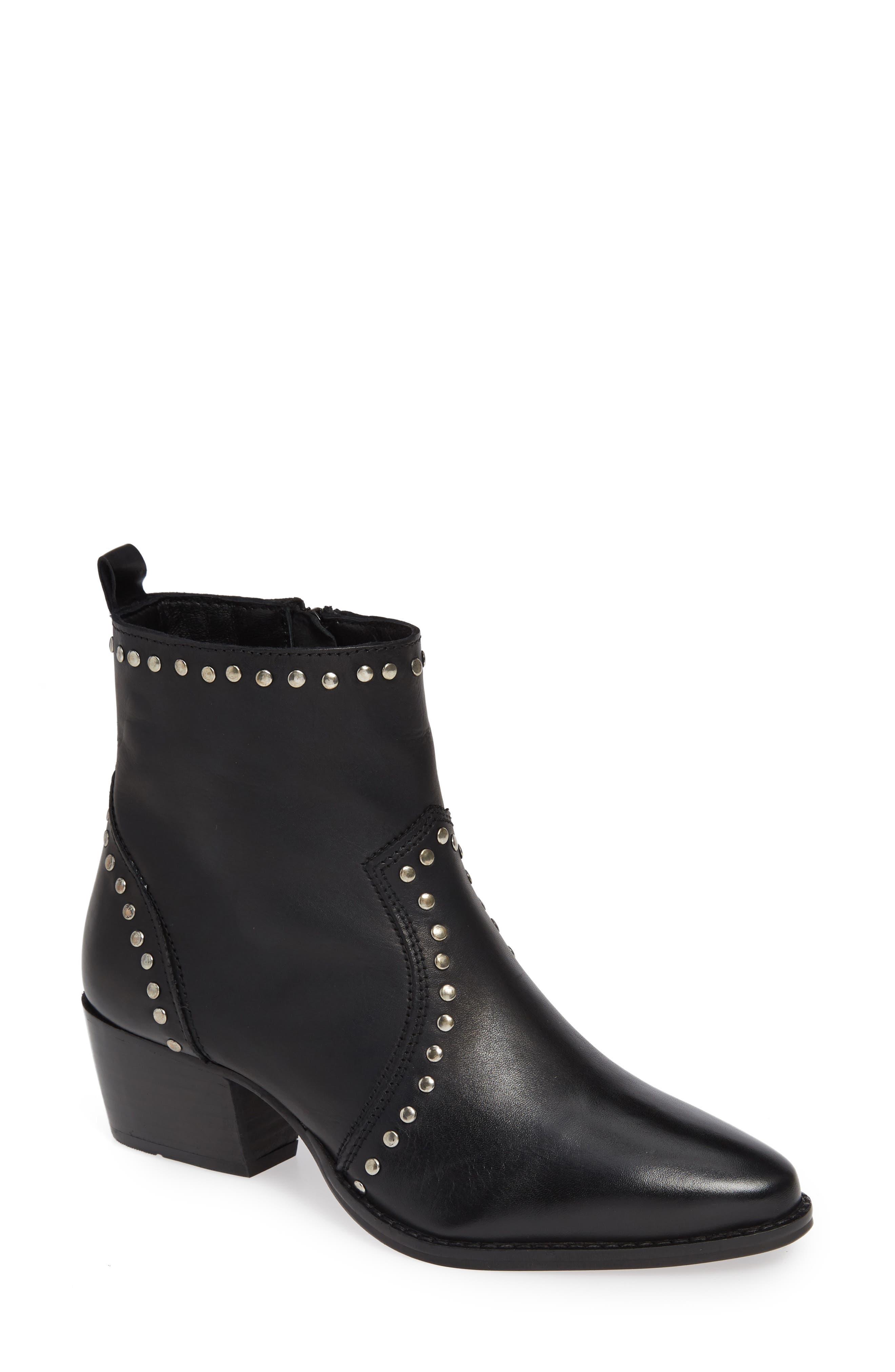 CHARLES BY CHARLES DAVID, Zye Bootie, Main thumbnail 1, color, BLACK LEATHER
