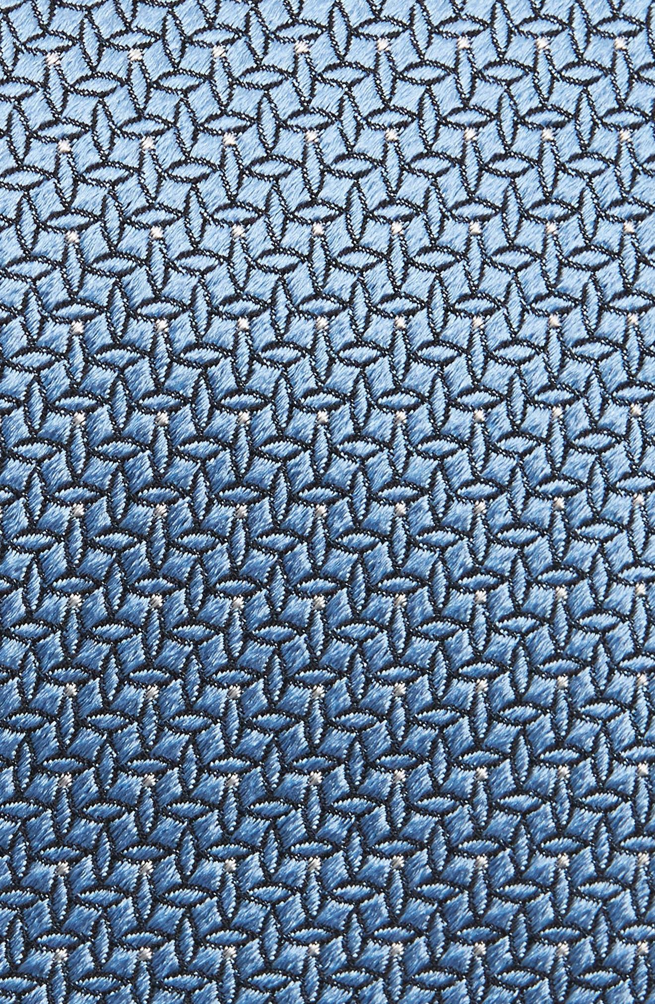 EMPORIO ARMANI, Geometric Silk Tie, Alternate thumbnail 2, color, 424