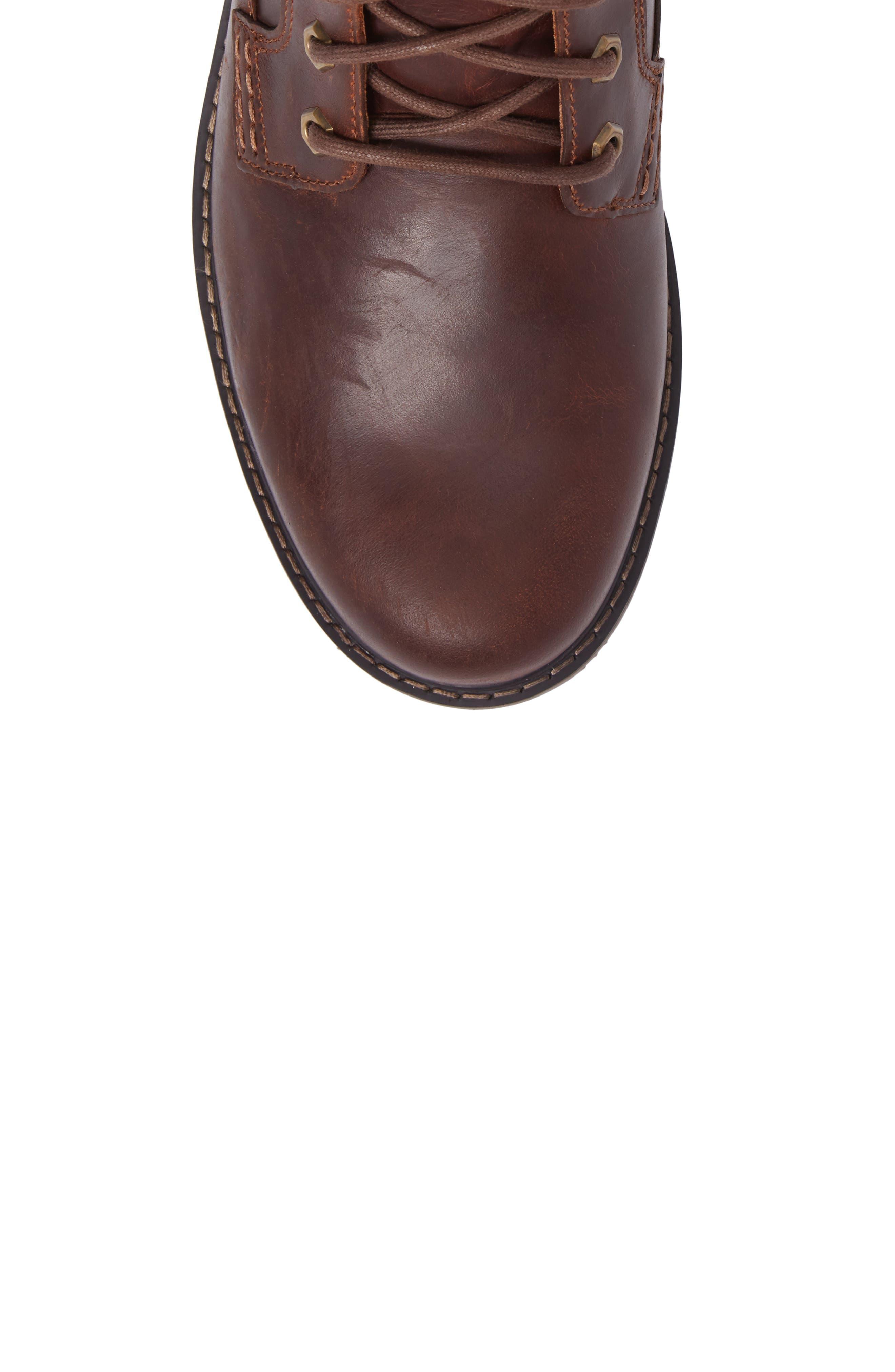 DUNHAM, Royalton Plain Toe Boot, Alternate thumbnail 5, color, BROWN