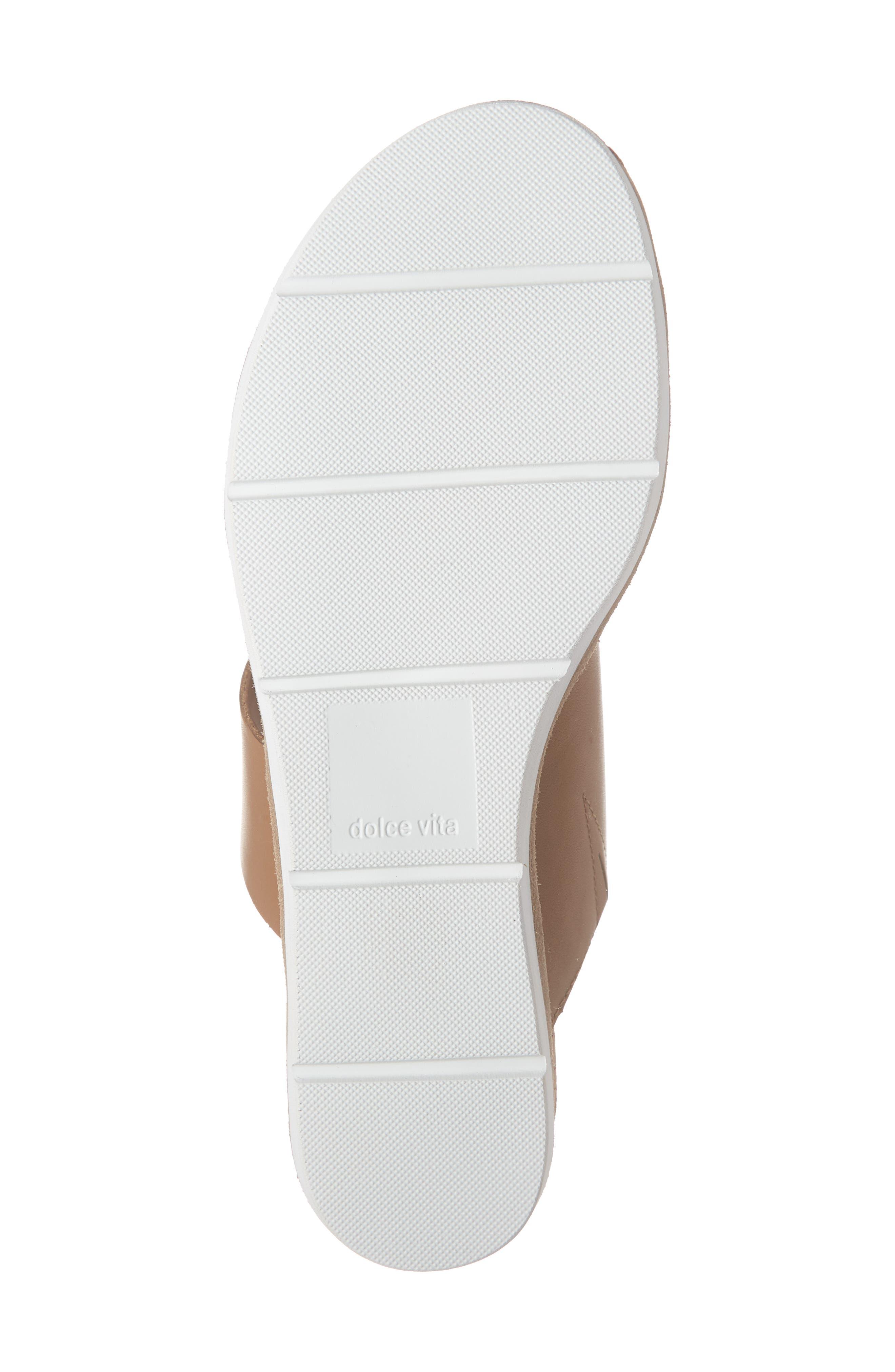 DOLCE VITA, Vala Wedge Slide Sandal, Alternate thumbnail 6, color, LEOPARD CALF HAIR