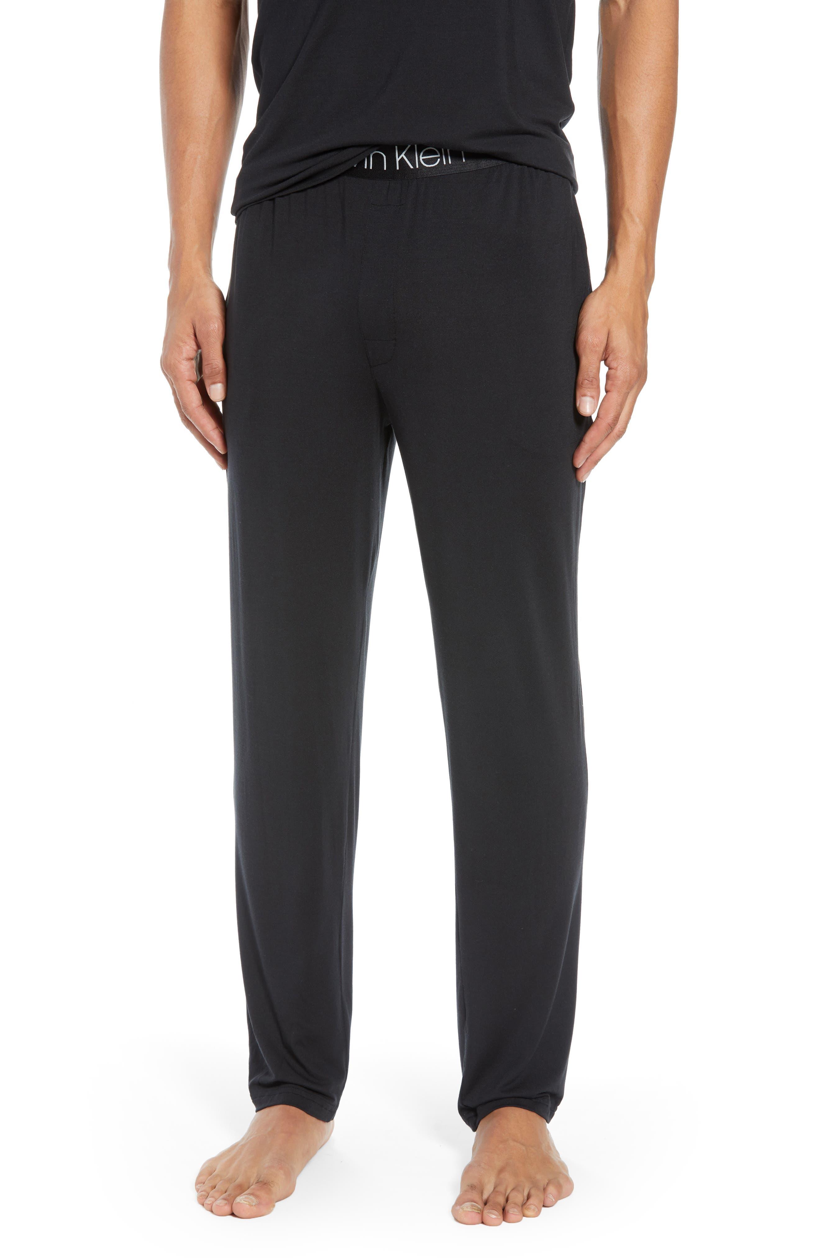 CALVIN KLEIN, Stretch Modal Lounge Pants, Main thumbnail 1, color, BLACK
