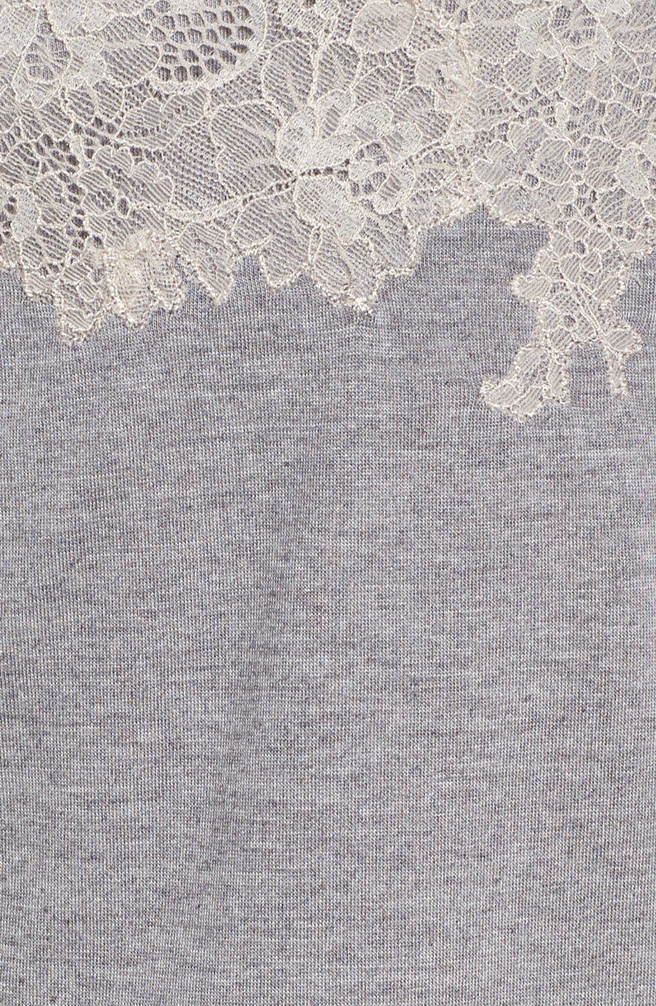 NATORI, Luxe Shangri-La Short Pajamas, Alternate thumbnail 7, color, GREY