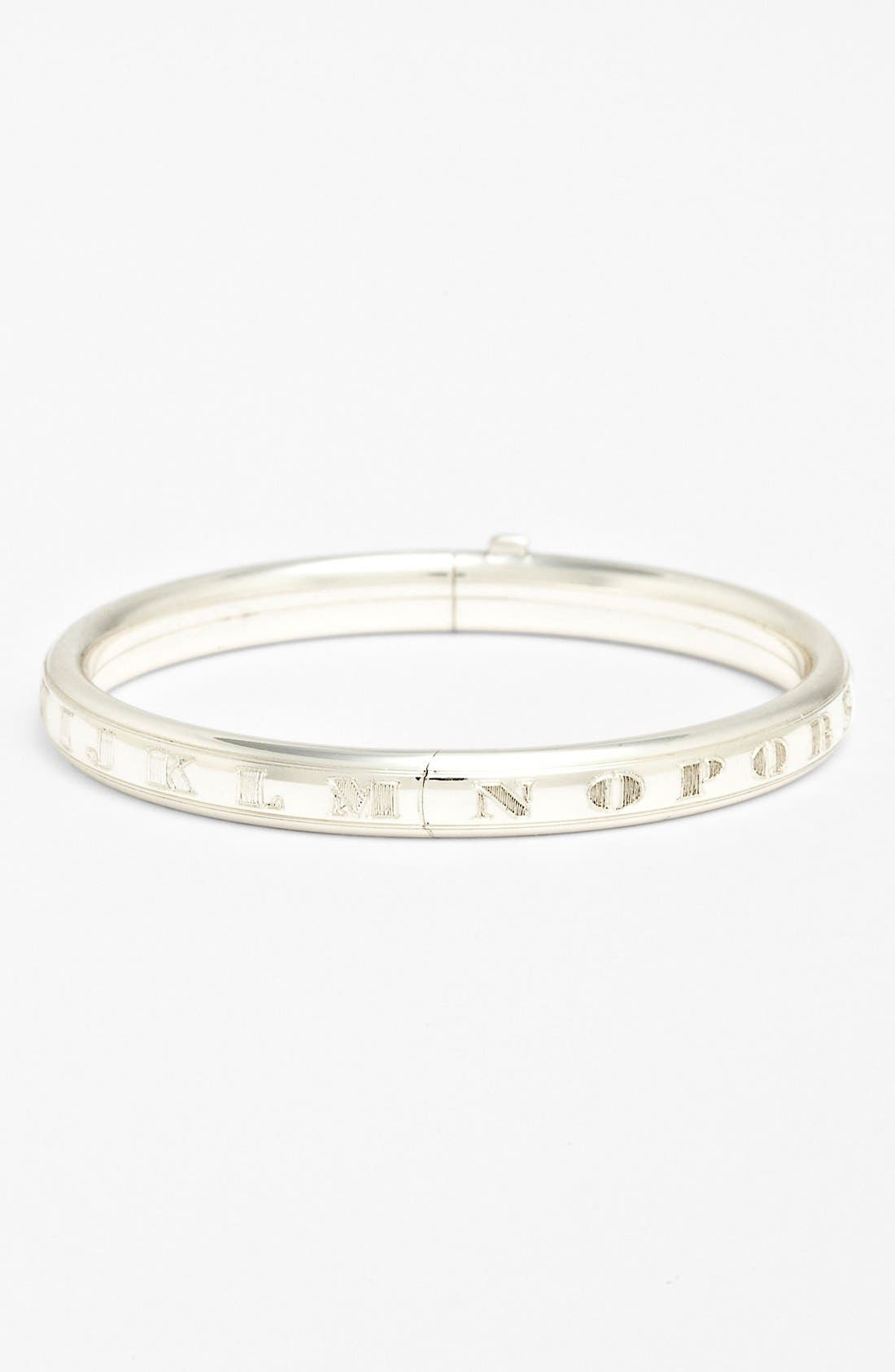MIGNONETTE Sterling Silver Alphabet Bracelet, Main, color, STERLING SILVER