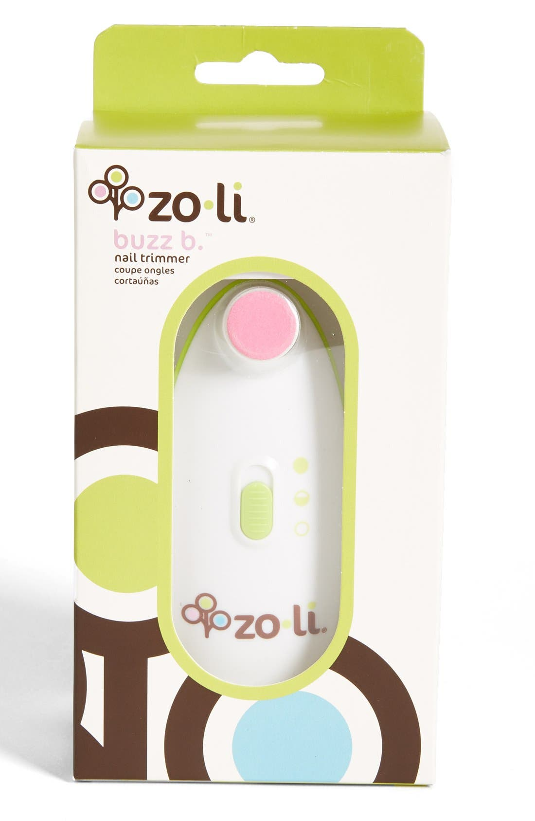 ZOLI, 'BUZZ B.<sup>™</sup>' Nail Trimmer, Replacement Pads & Storage Case, Main thumbnail 1, color, 000
