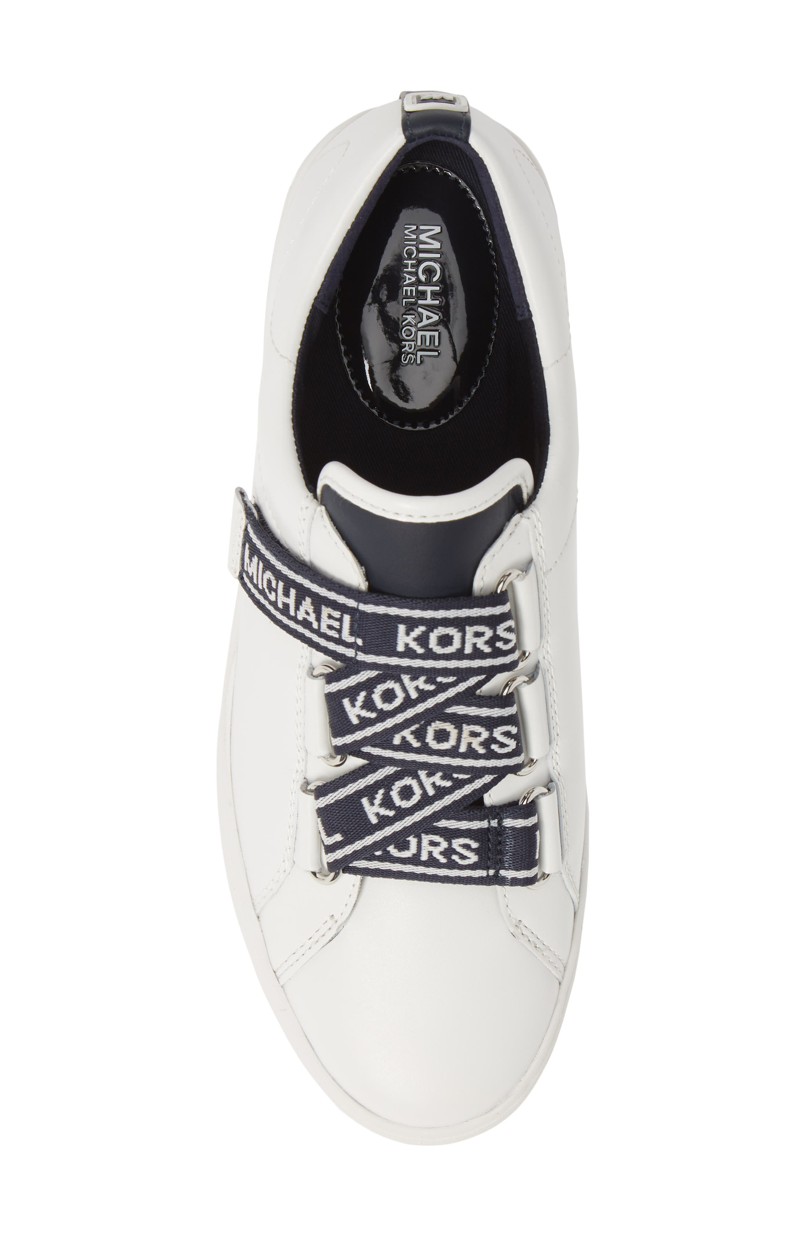 MICHAEL MICHAEL KORS, Casey Low Top Sneaker, Alternate thumbnail 5, color, ADMIRAL/ WHITE