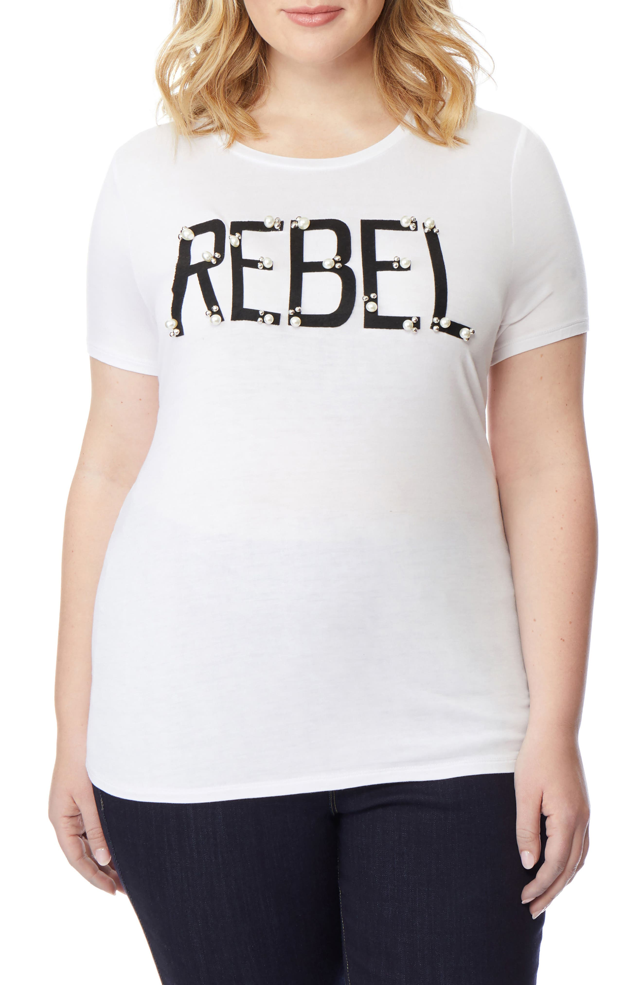 REBEL WILSON X ANGELS, Rebel Embellished Graphic Tee, Main thumbnail 1, color, 107