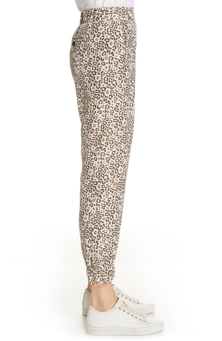52e3b444ee29 Atm Anthony Thomas Melillo Lunar Leopard-Print Cropped Silk Sweatpants In  Lunar Combo
