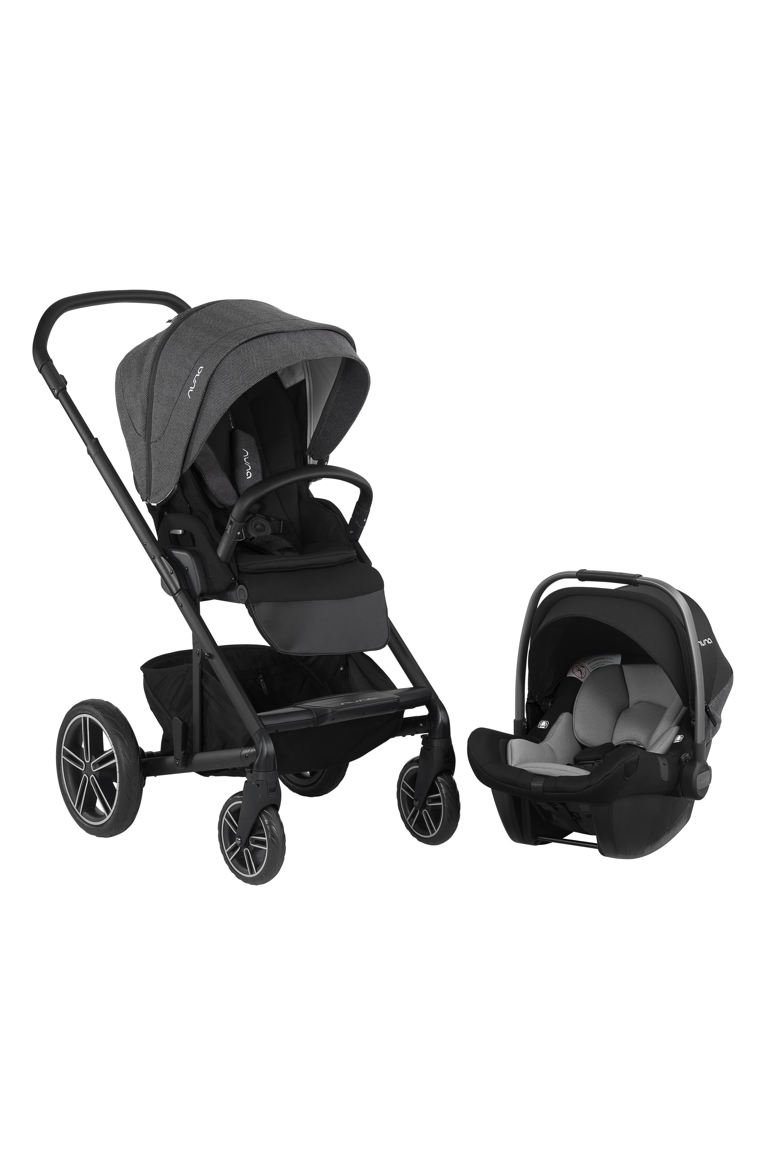 NUNA, 2019 MIXX<sup>™</sup> Stroller & PIPA<sup>™</sup> Lite LX Infant Car Seat Set Travel System, Main thumbnail 1, color, VERONA CAVIAR