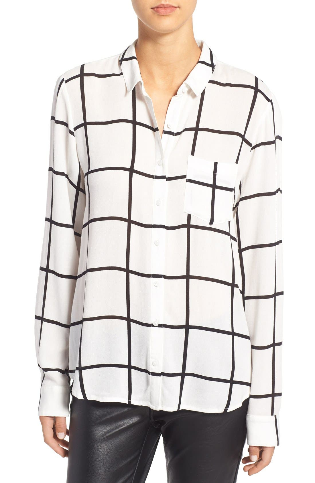 LEITH, Stripe Shirt, Main thumbnail 1, color, 900