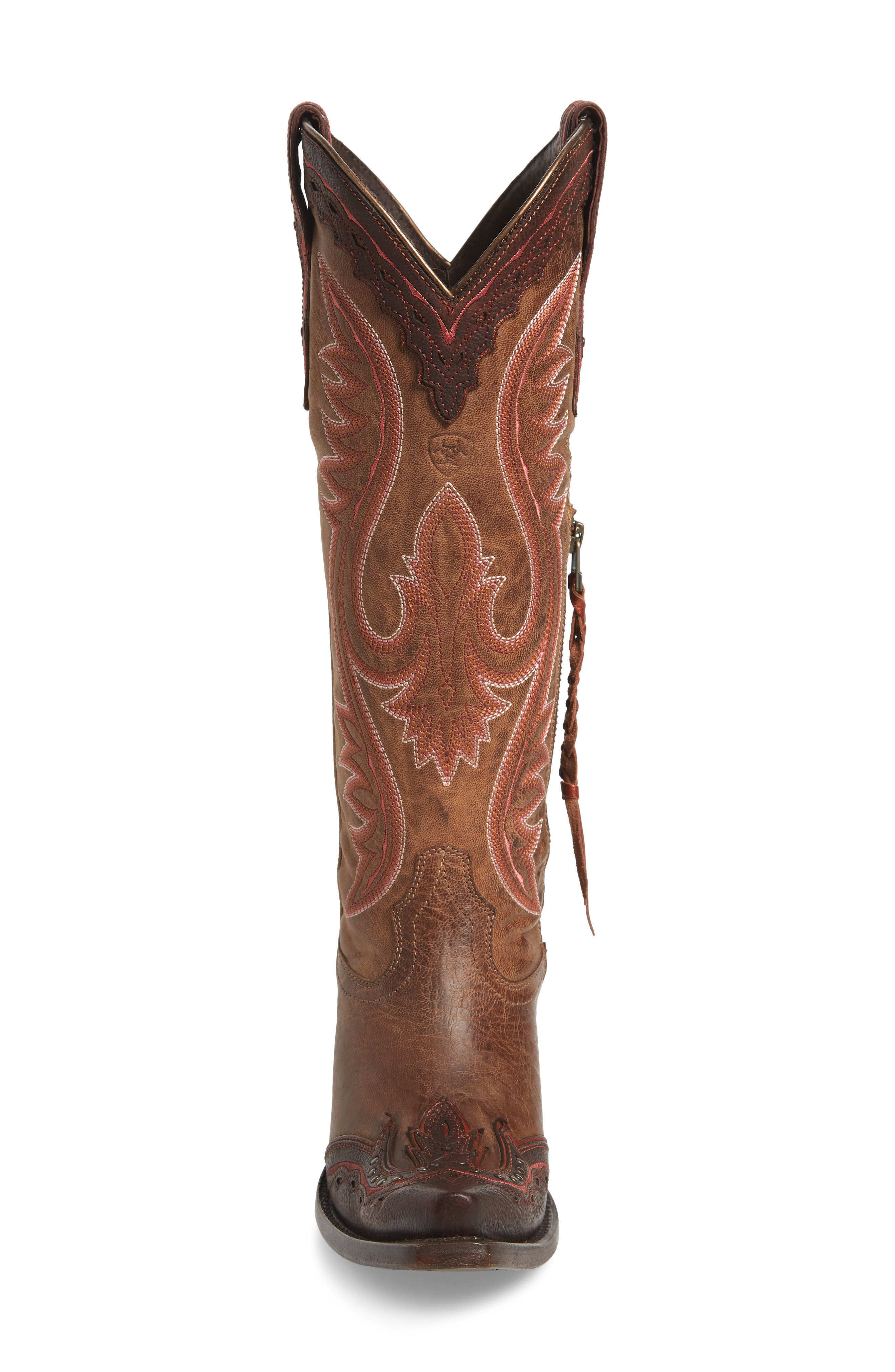 ARIAT, Adelina Western Boot, Alternate thumbnail 4, color, WEATHER TAN LEATHER