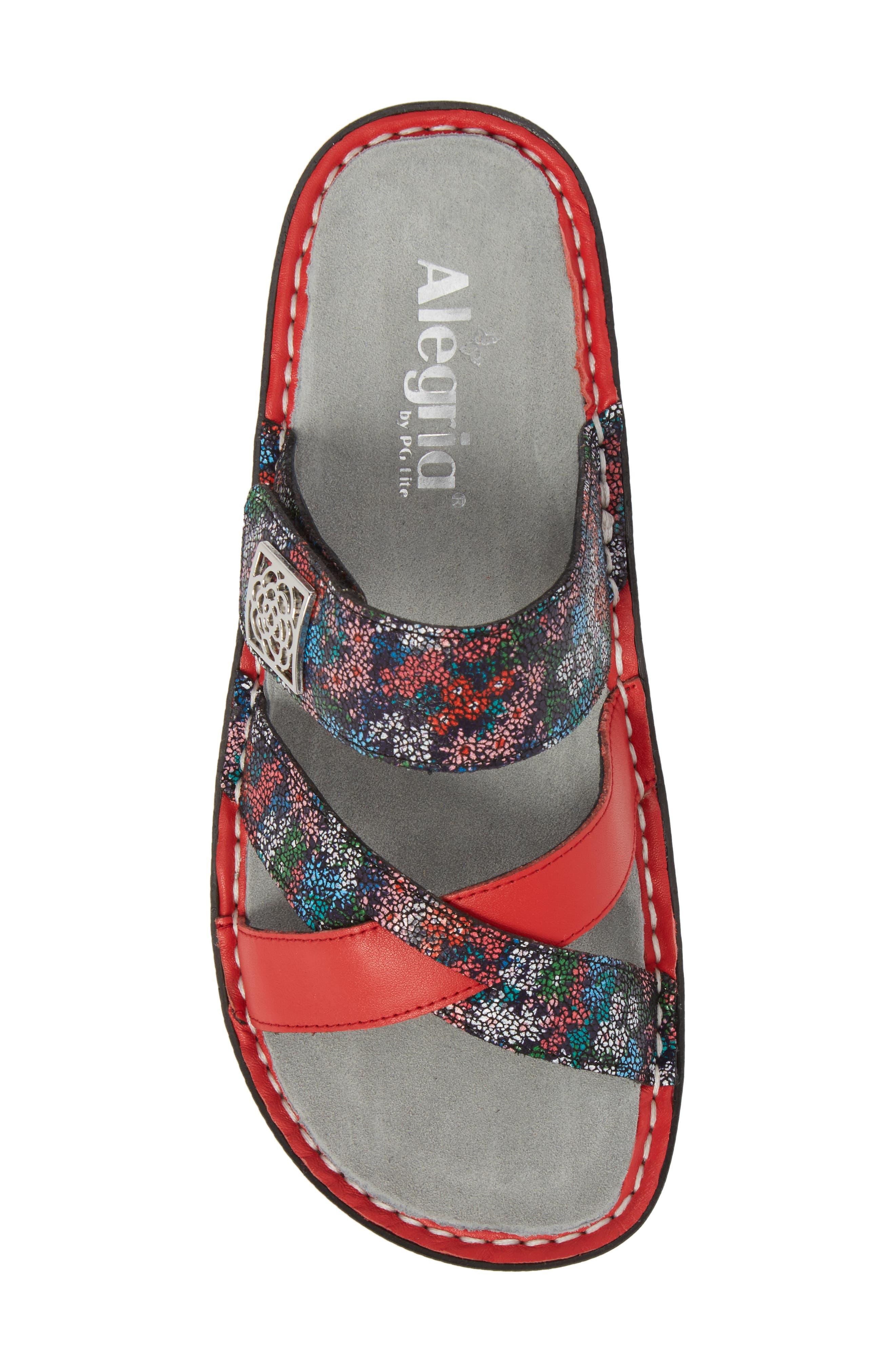 ALEGRIA, by PG Lite Victoriah Slide Sandal, Alternate thumbnail 5, color, BOTANICOOL LEATHER