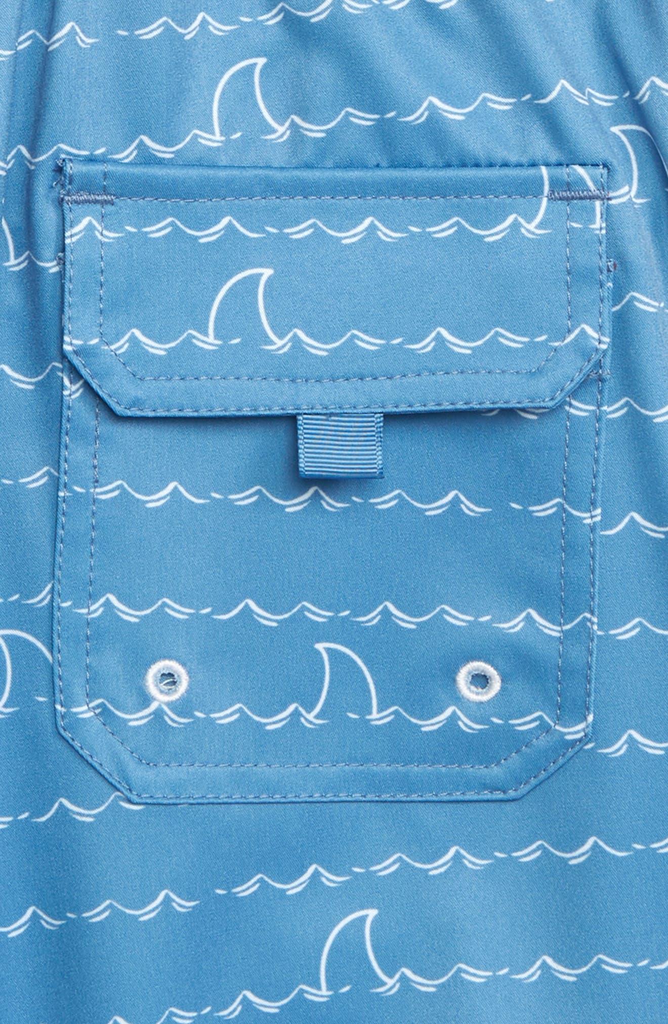 HATLEY, Shark Fin Quick Drying Shorts, Alternate thumbnail 3, color, 400