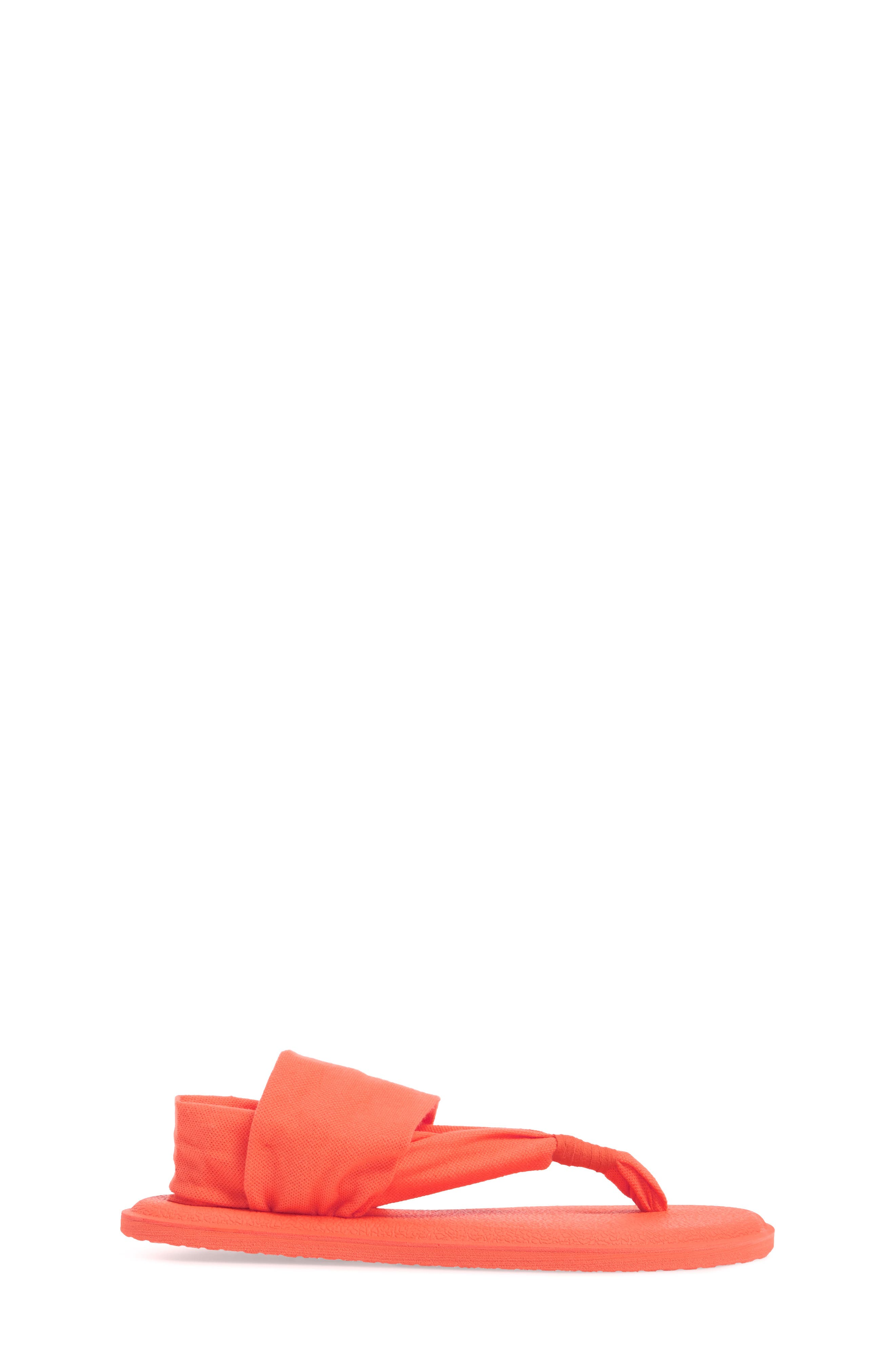 SANUK, 'Yoga Sling Burst' Sandal, Alternate thumbnail 3, color, NASTURIUM