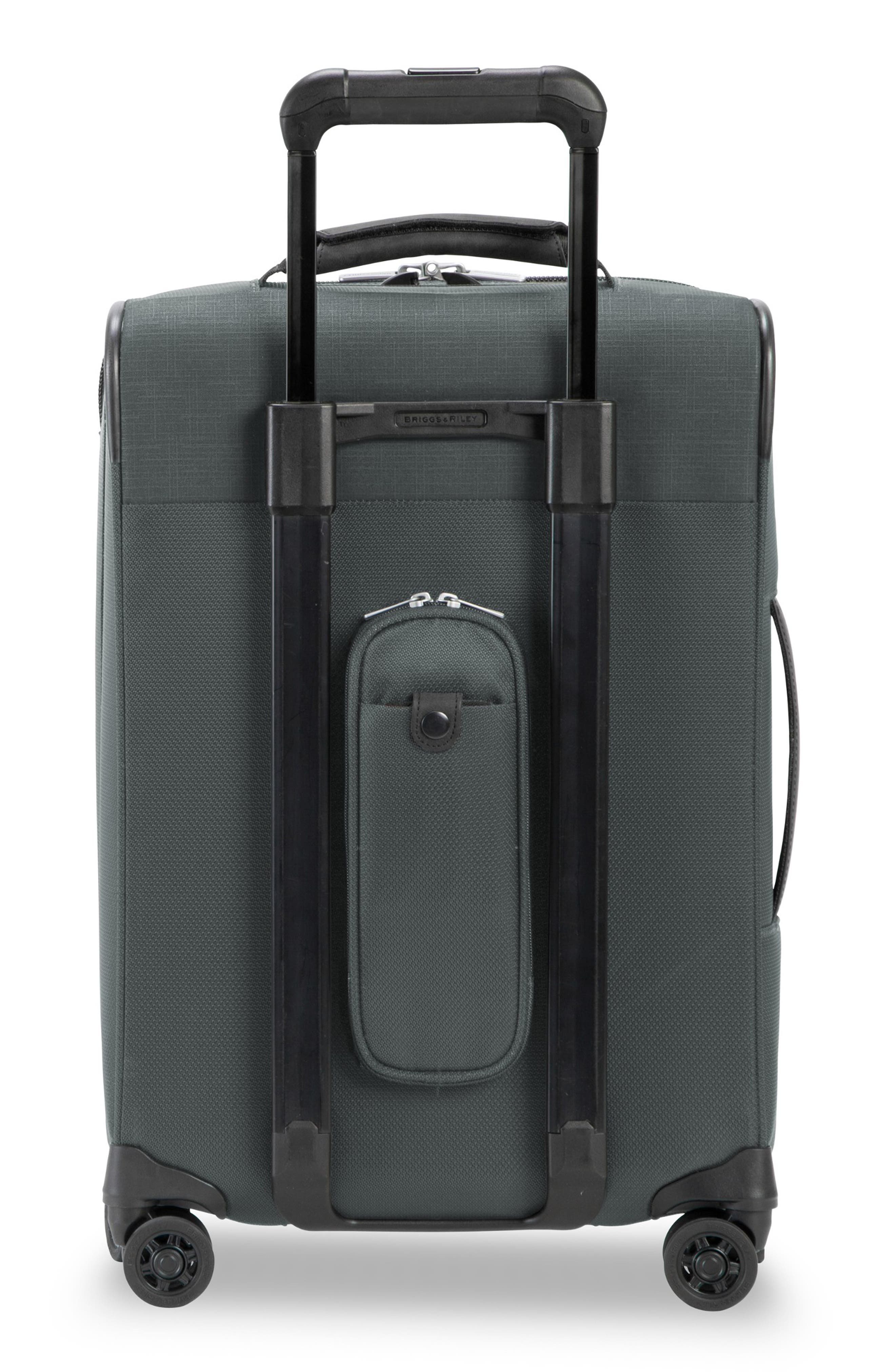 BRIGGS & RILEY, Transcend Tall Expandable Wheeled Suitcase, Alternate thumbnail 4, color, SLATE GREY