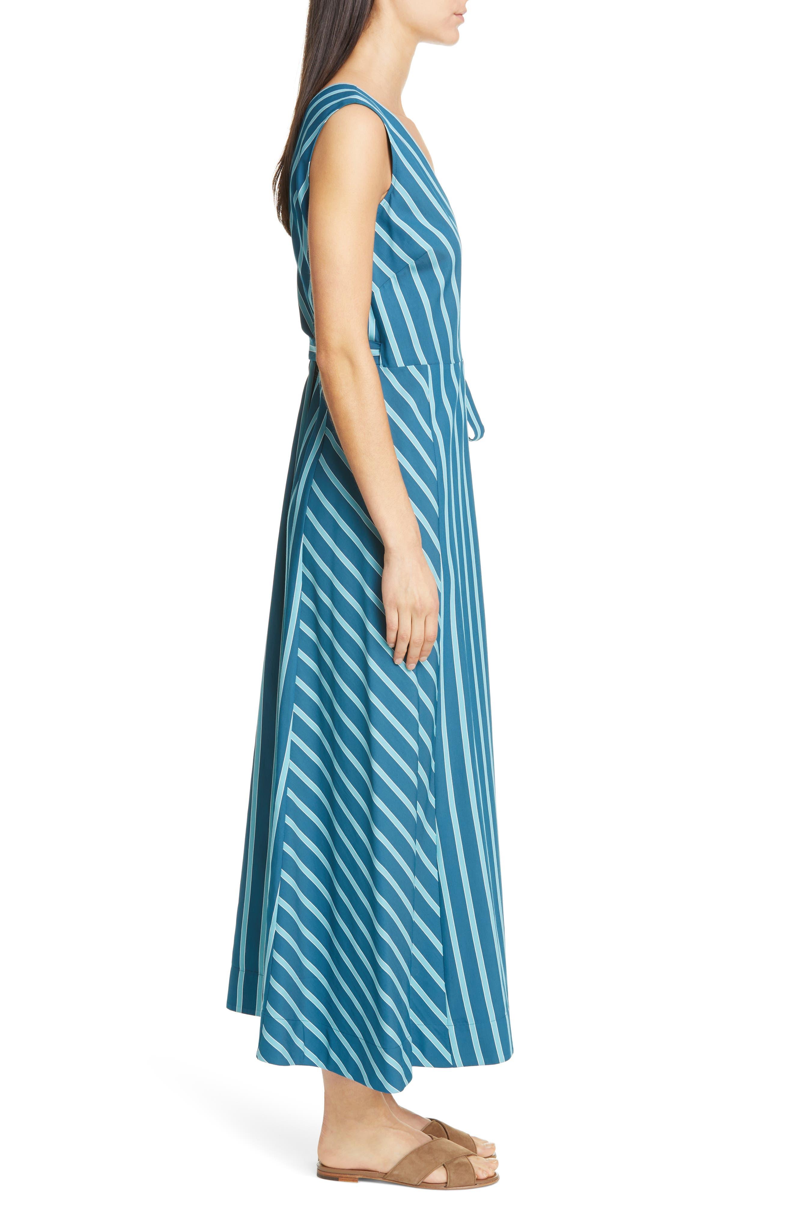 LAFAYETTE 148 NEW YORK, Siri Wrap Dress, Alternate thumbnail 4, color, PACIFIC MULTI