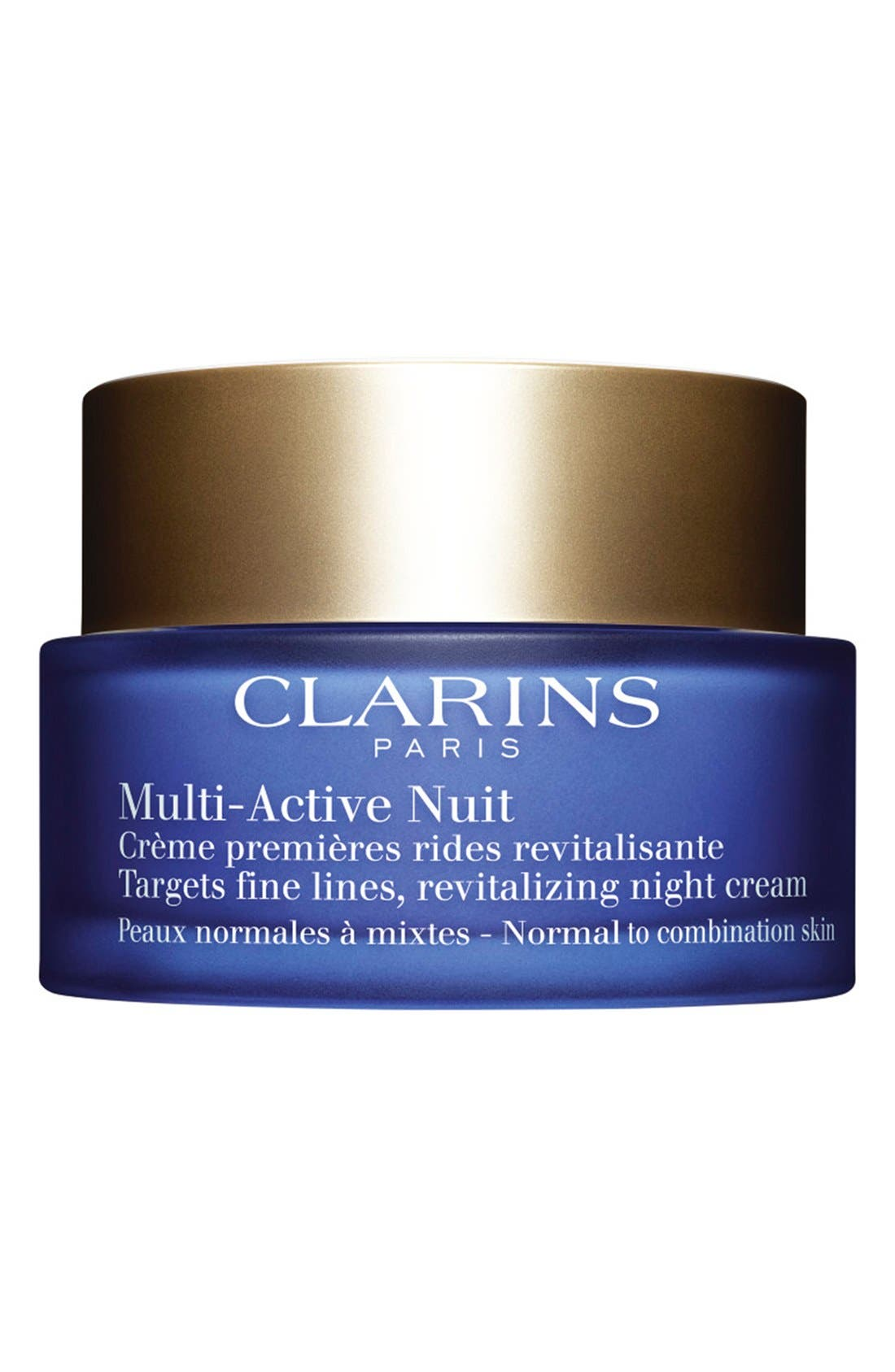 CLARINS, Multi-Active Night Cream for Normal to Combination Skin Types, Main thumbnail 1, color, NO COLOR