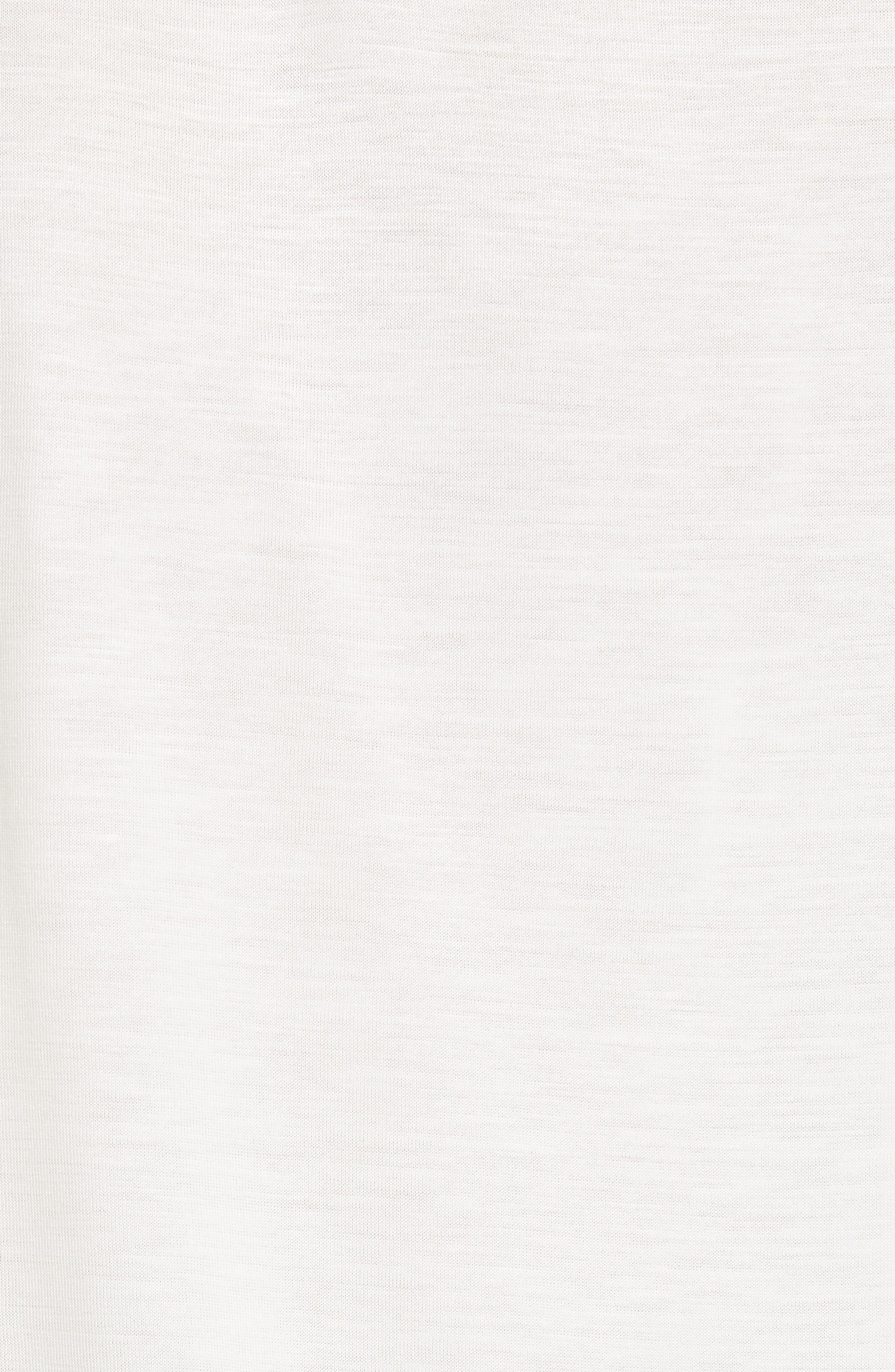 BOSS, Efrona Sheer Sleeve Top, Alternate thumbnail 5, color, 112