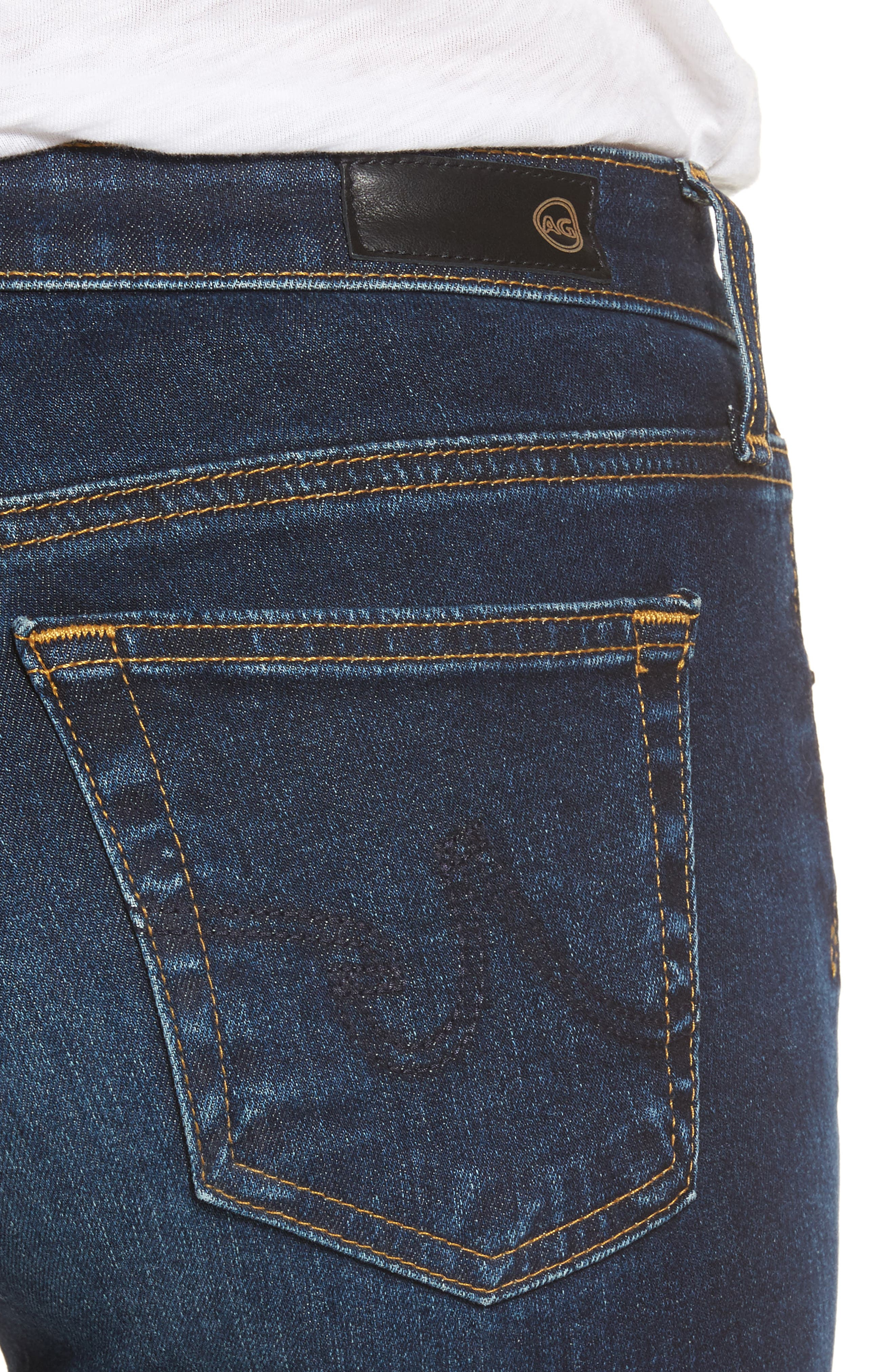 AG, The Legging Ankle Super Skinny Jeans, Alternate thumbnail 5, color, 04 YEARS RAPID