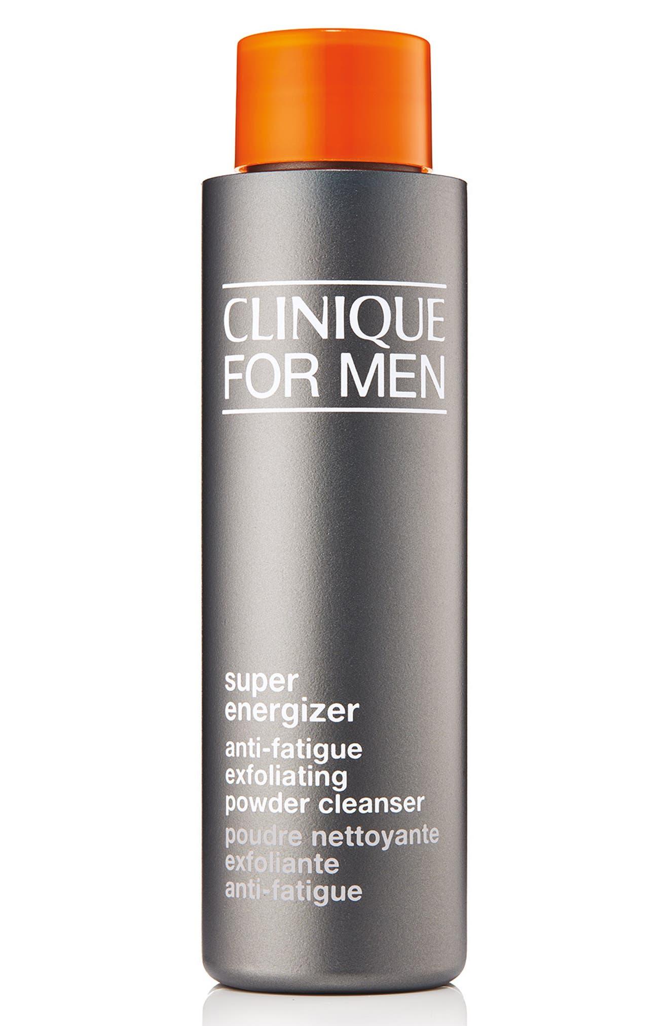 CLINIQUE for Men Super Energizer Anti-Fatigue Exfoliating Powder Cleanser, Main, color, 000