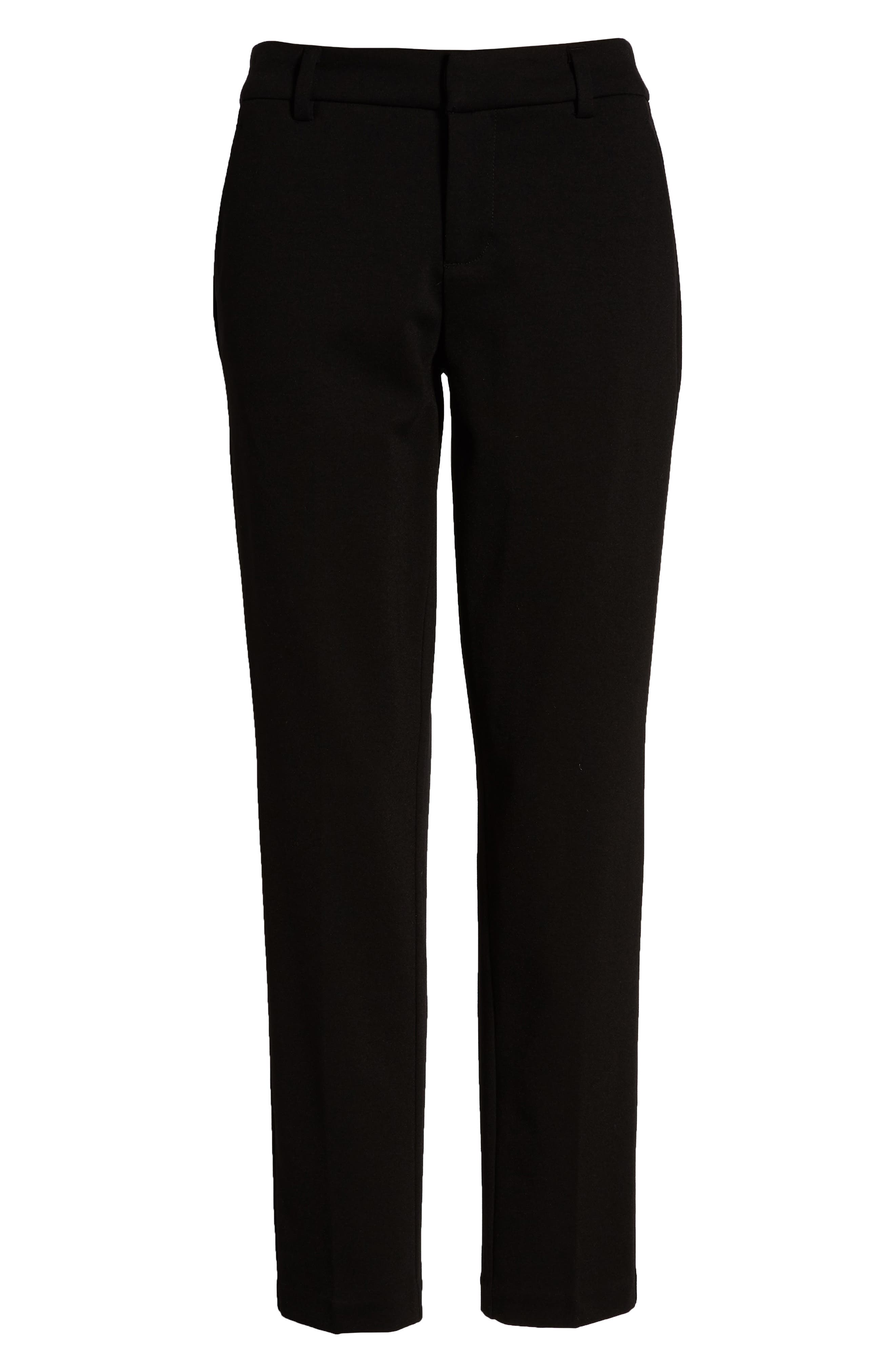 LIVERPOOL, Kelsey Knit Trousers, Alternate thumbnail 5, color, BLACK