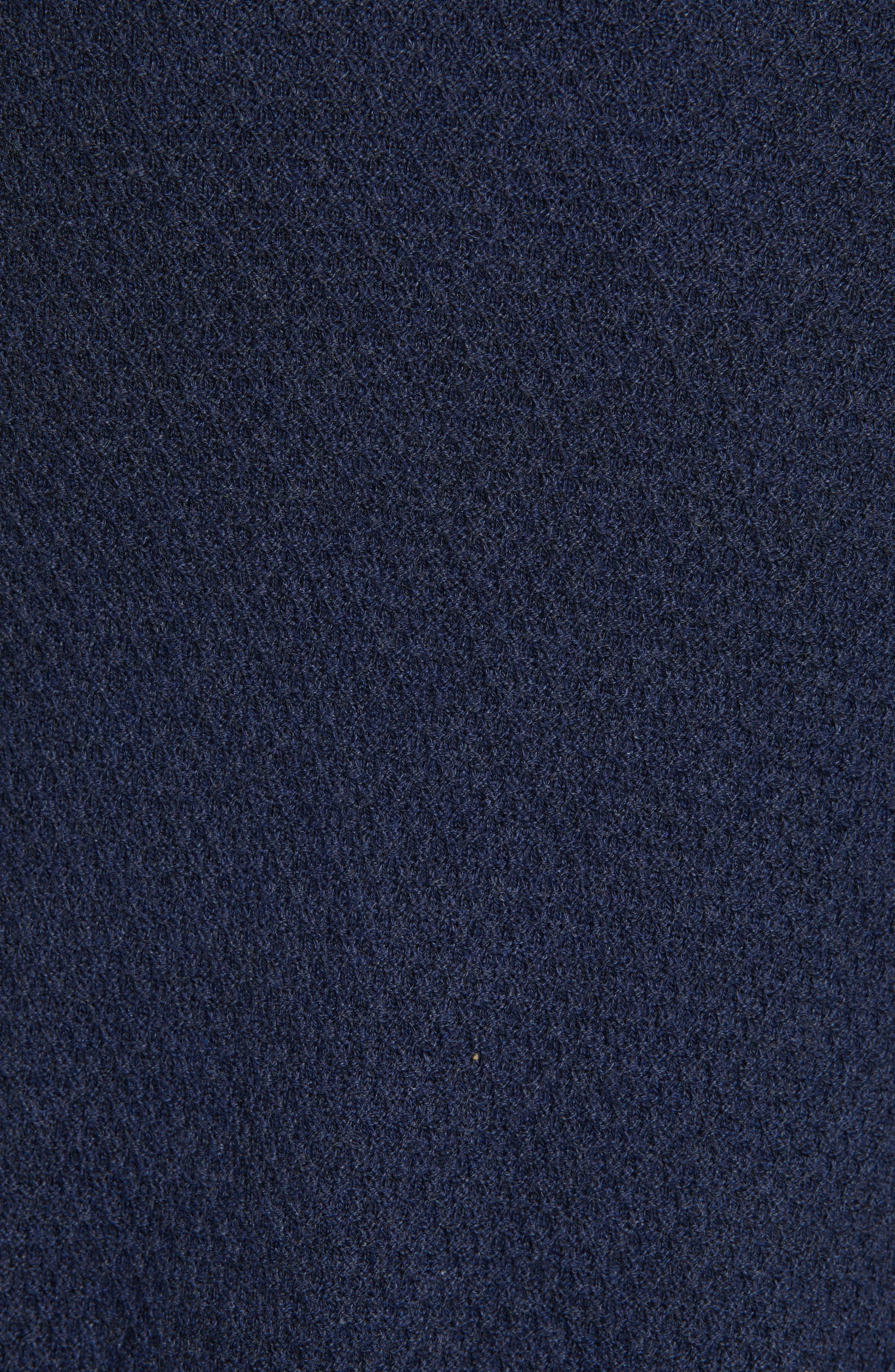 ZACHARY PRELL, Cedarhurst Hooded Zip Sweater, Alternate thumbnail 6, color, NAVY