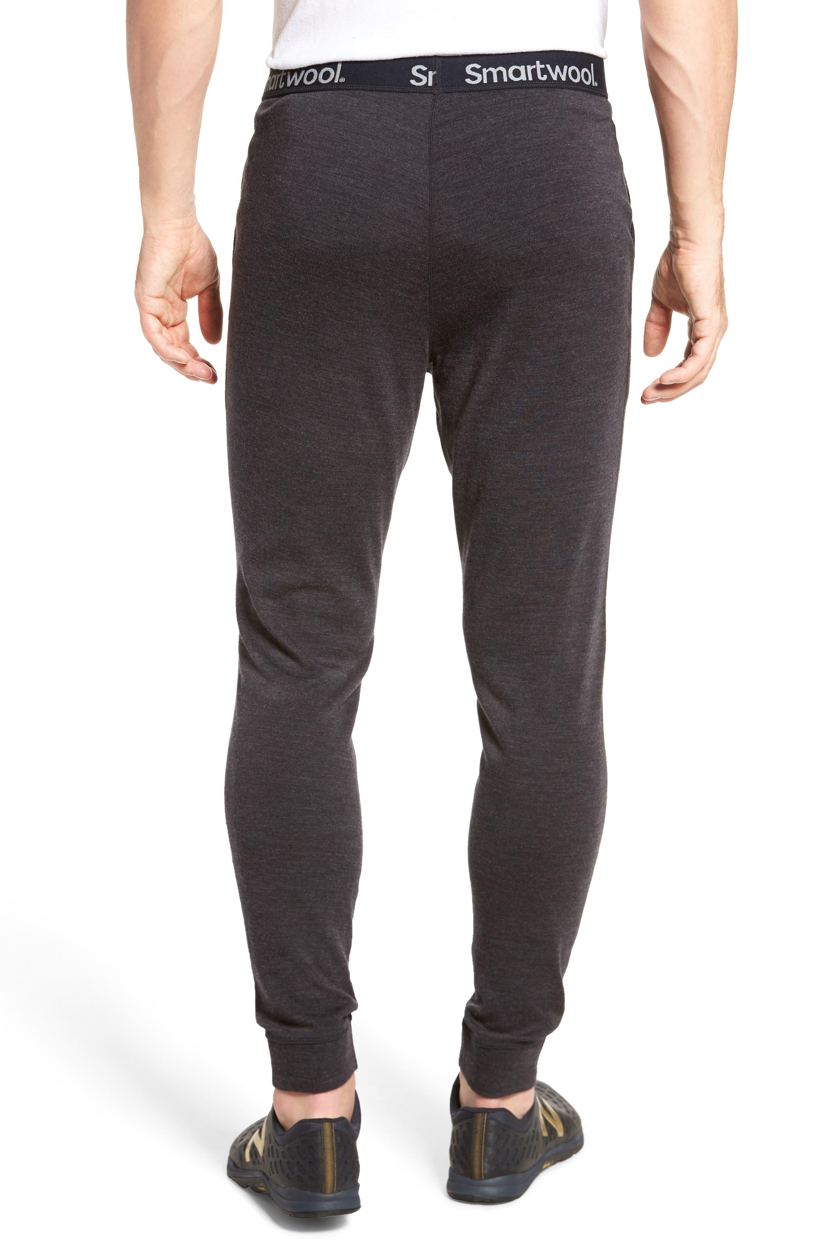 SMARTWOOL, 250 Merino Wool Jogger Pants, Alternate thumbnail 2, color, CHARCOAL