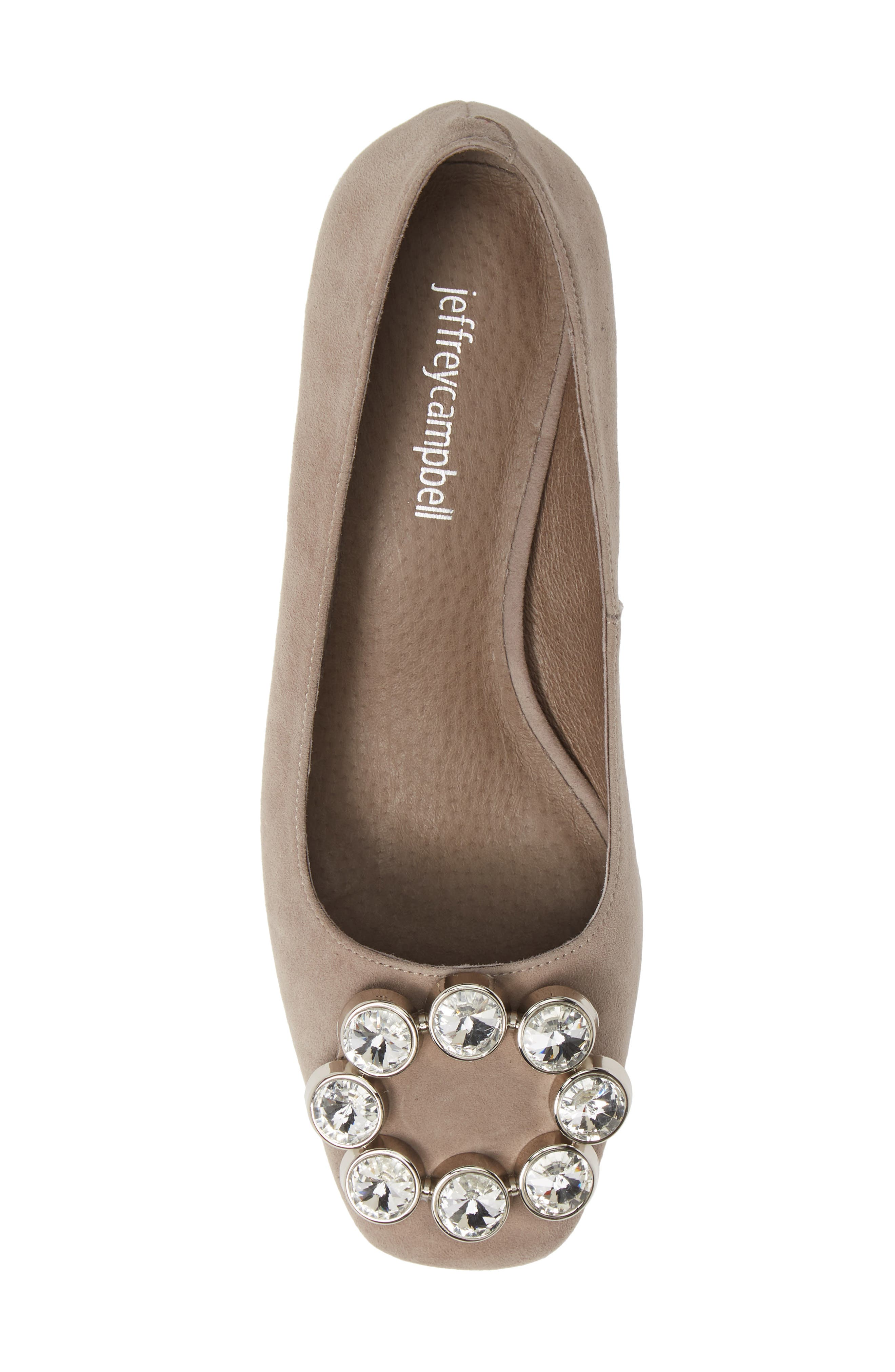 JEFFREY CAMPBELL, Carys Pump, Alternate thumbnail 5, color, TAUPE SUEDE