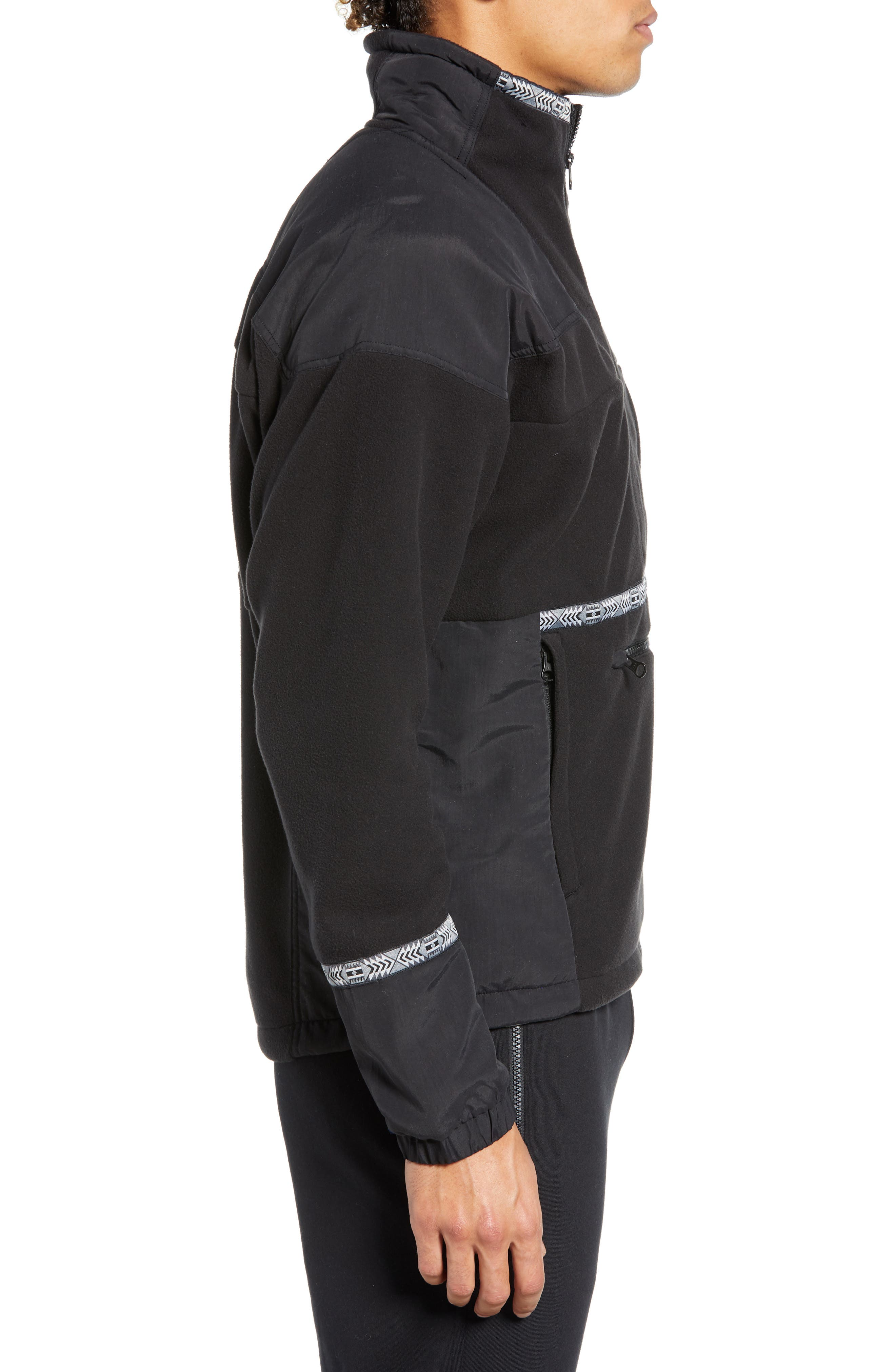 THE NORTH FACE, 1992 Rage Collection Fleece Anorak, Alternate thumbnail 4, color, 001