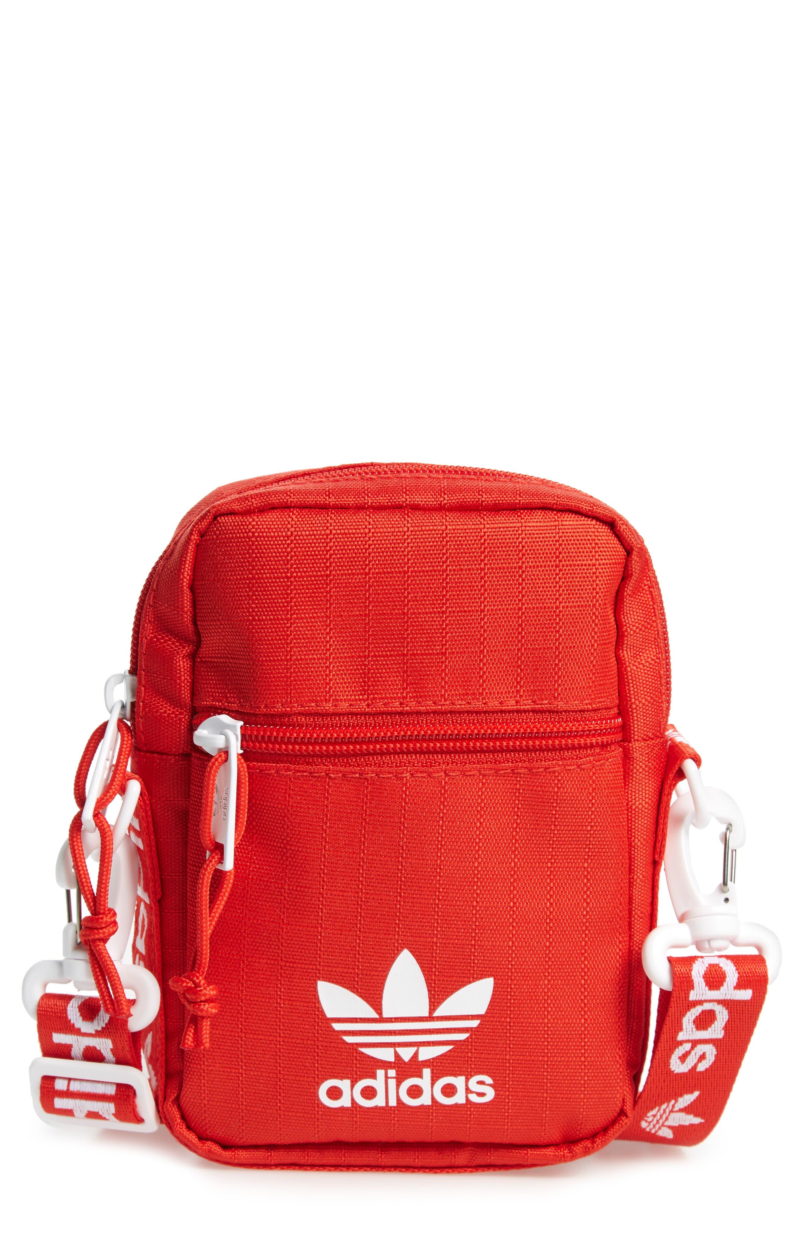 ADIDAS, Logo Belt Bag, Main thumbnail 1, color, RED