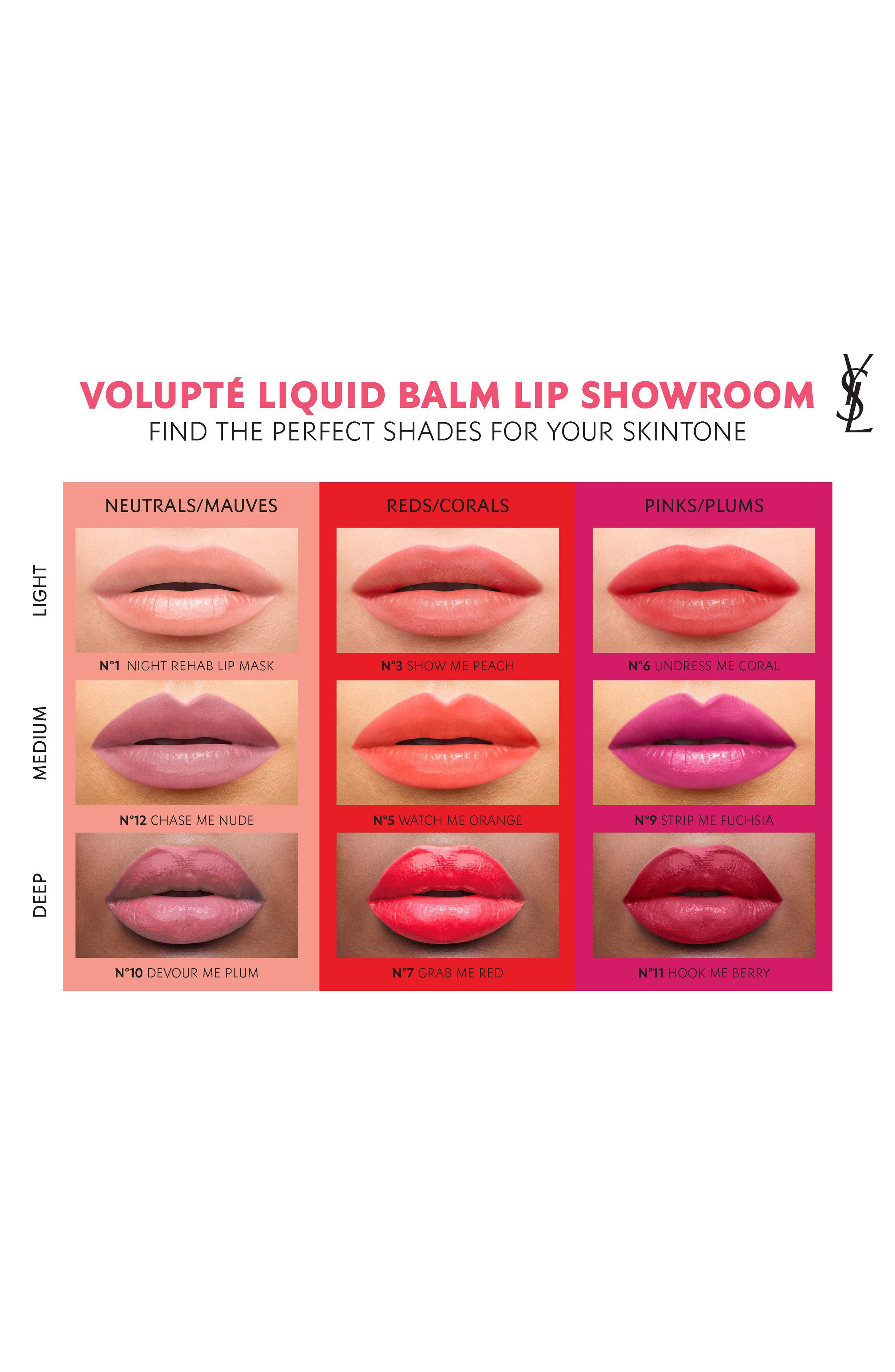 YVES SAINT LAURENT, Volupté Liquid Balm, Alternate thumbnail 4, color, 04 SPY ON ME NUDE