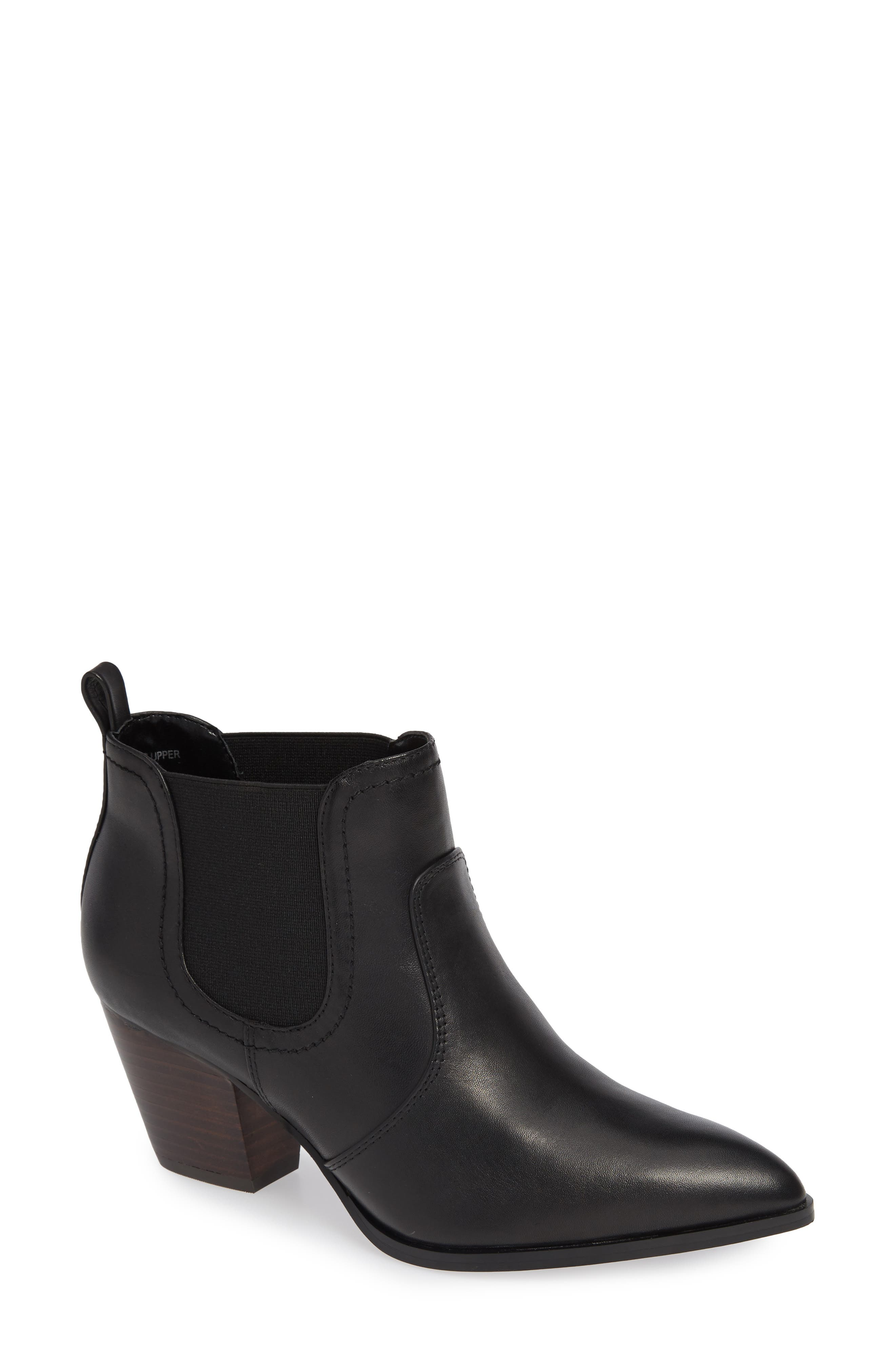 BELLA VITA, Emerson Chelsea Bootie, Main thumbnail 1, color, BLACK LEATHER