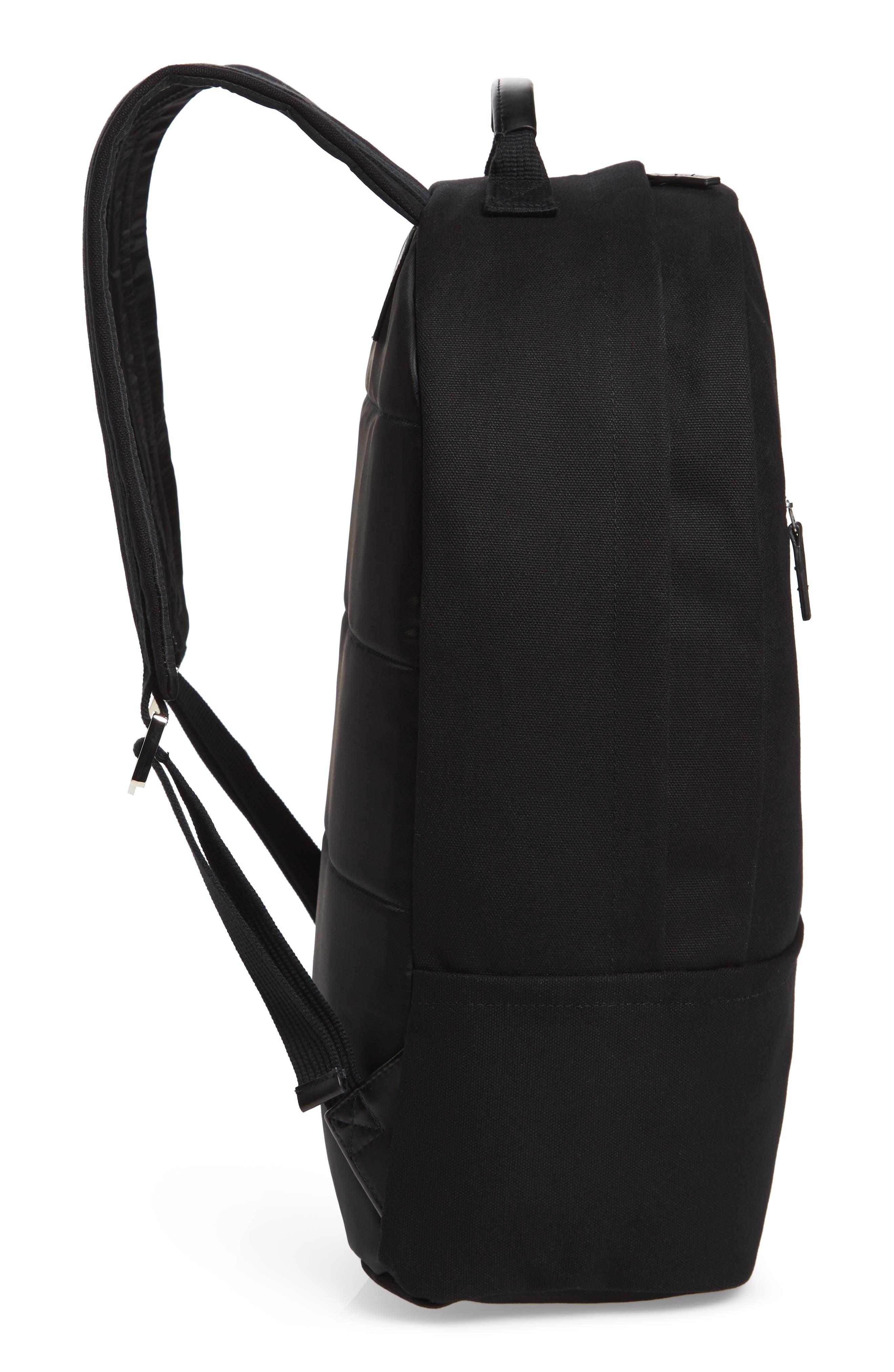 SATURDAYS NYC, Hannes Water Repellent Backpack, Alternate thumbnail 6, color, BLACK