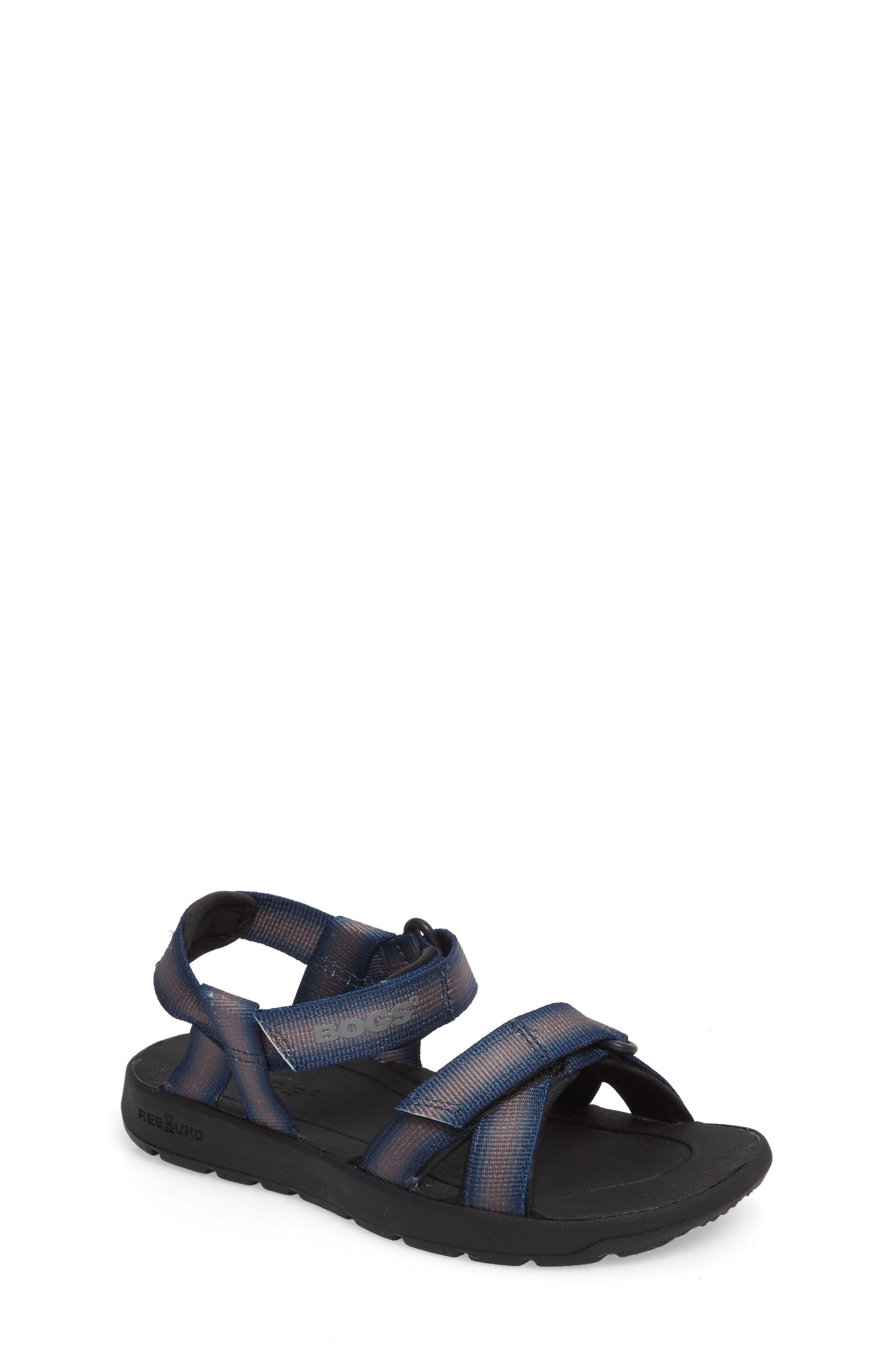 BOGS, Rio Sunrise Stripe Sandal, Main thumbnail 1, color, 062