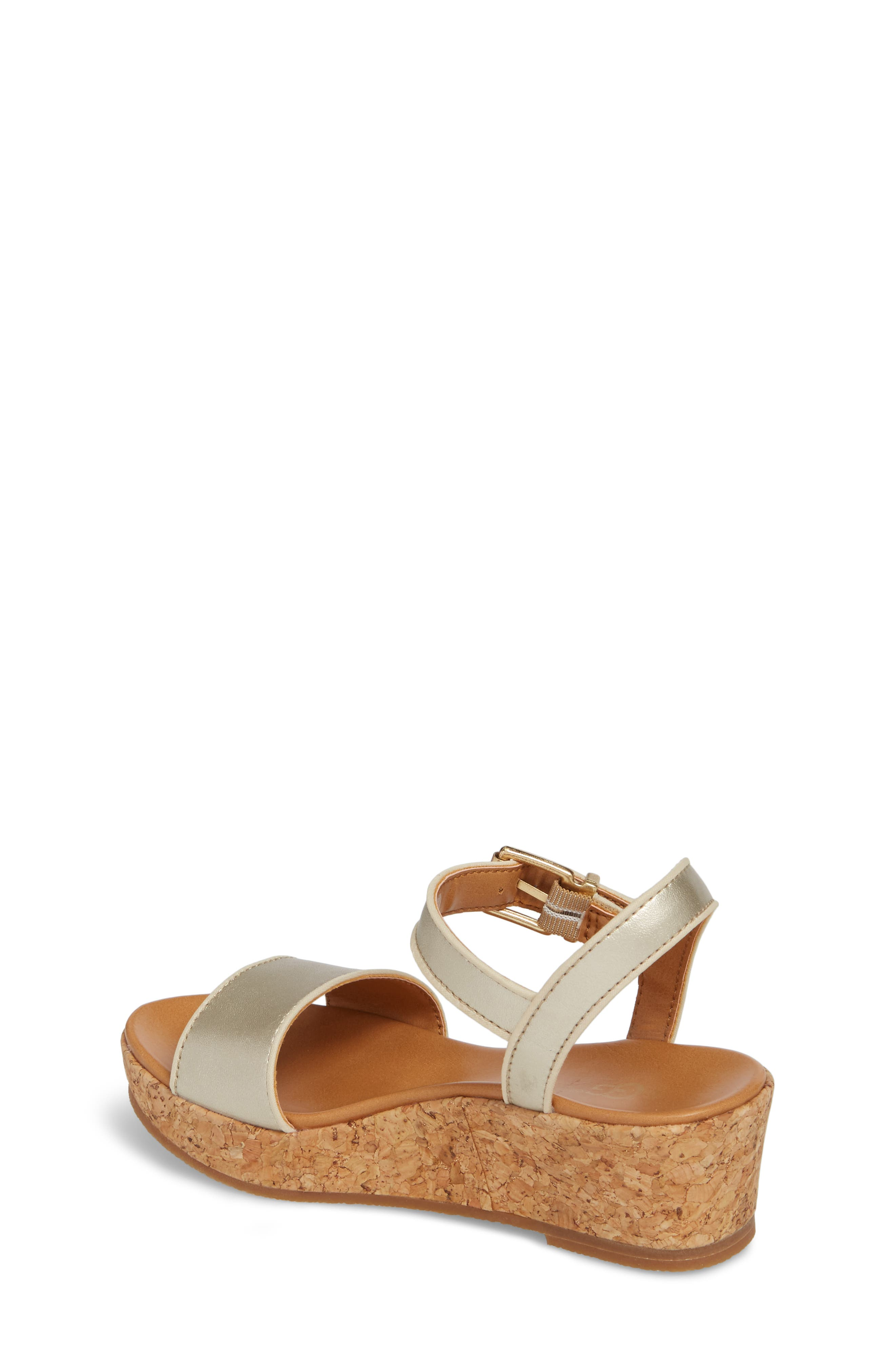 UGG<SUP>®</SUP>, Milley Wedge Sandal, Alternate thumbnail 2, color, GOLD