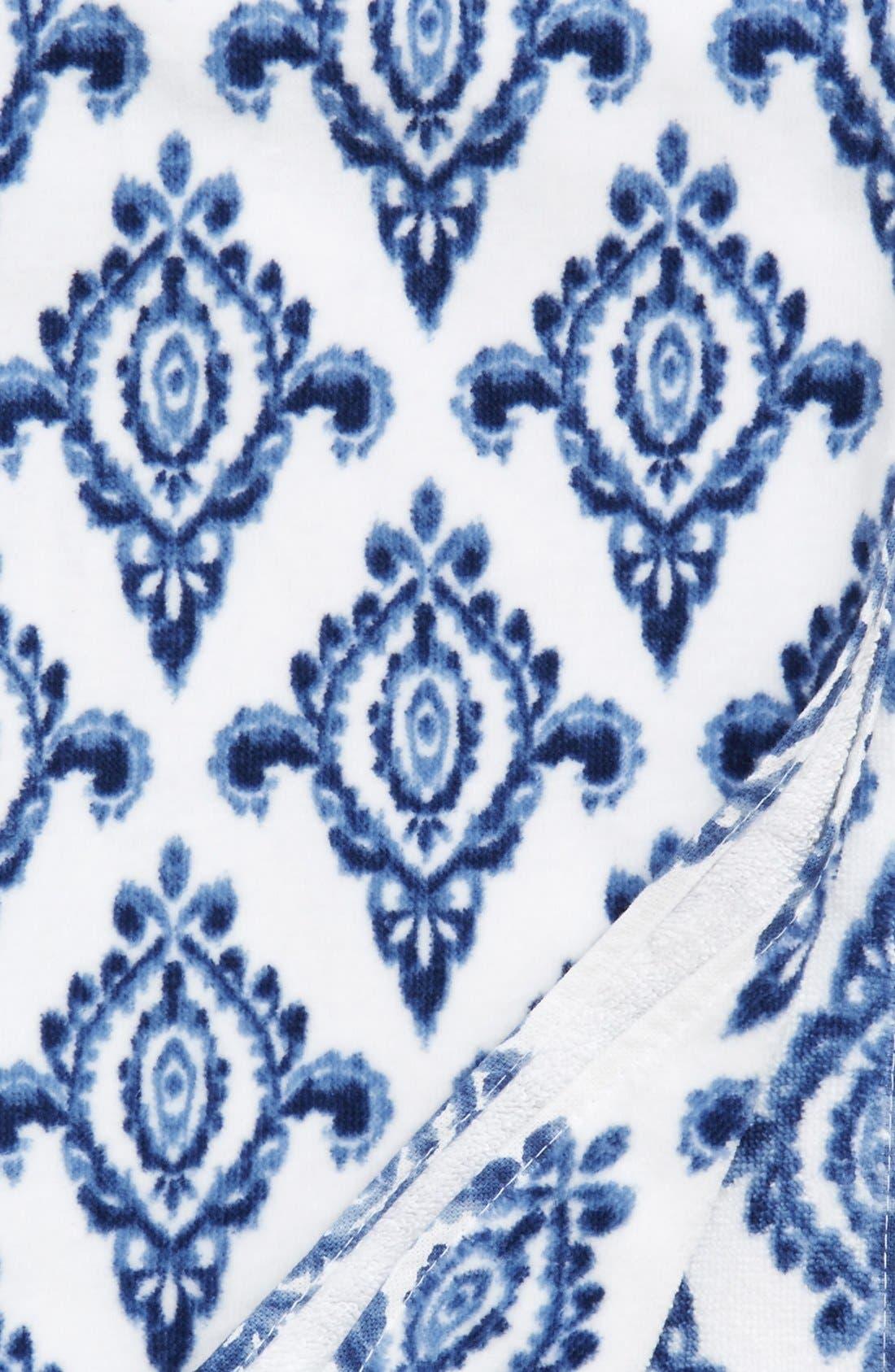DENA HOME, 'Madison' Ikat Print Bath Towel, Alternate thumbnail 2, color, 410