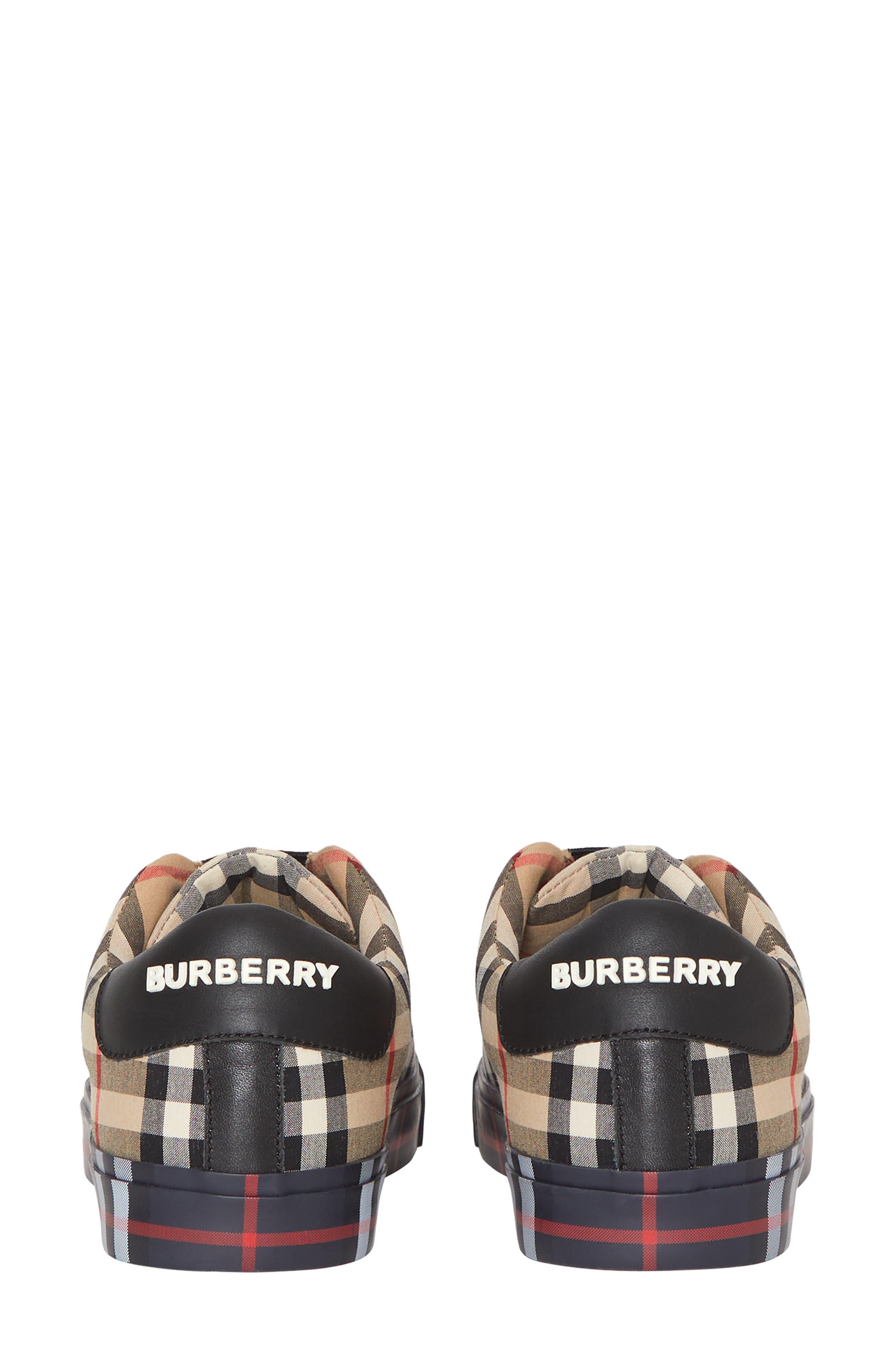 BURBERRY, Markham Vintage Check Slip-On Sneaker, Alternate thumbnail 6, color, BEIGE PLAID