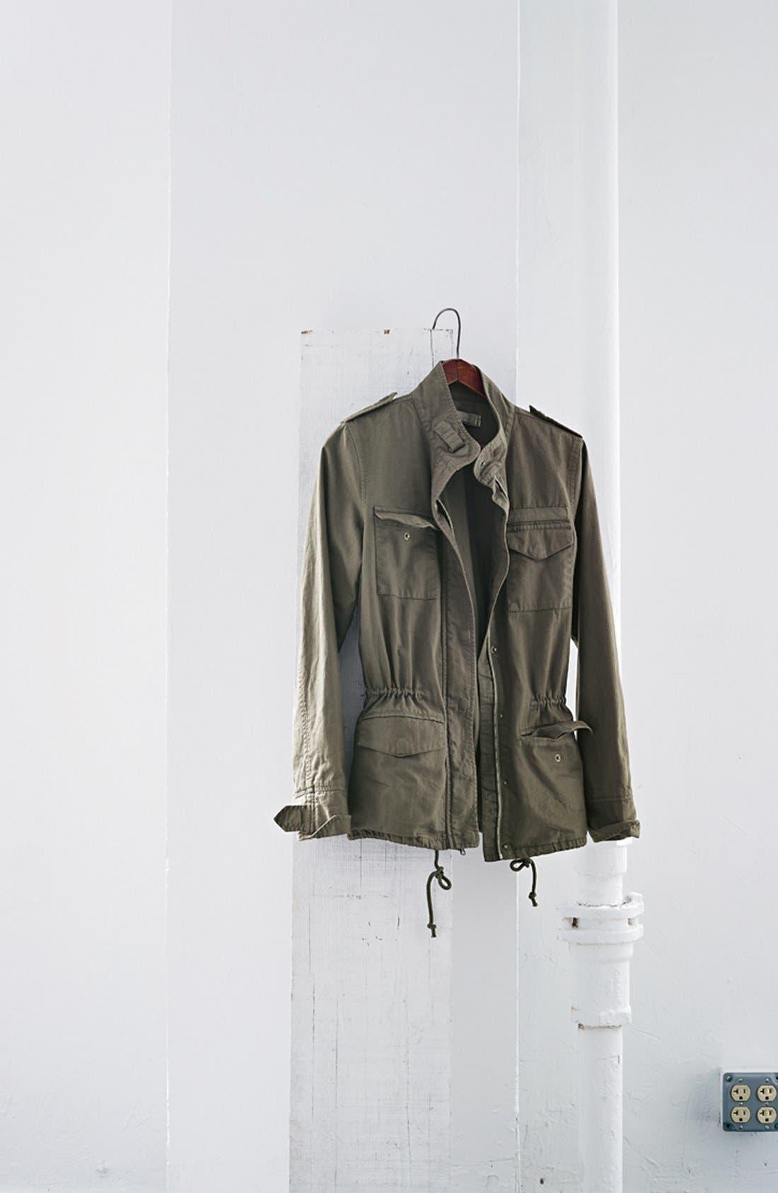 HINGE, 'Vintage' Expedition Jacket, Alternate thumbnail 3, color, 020