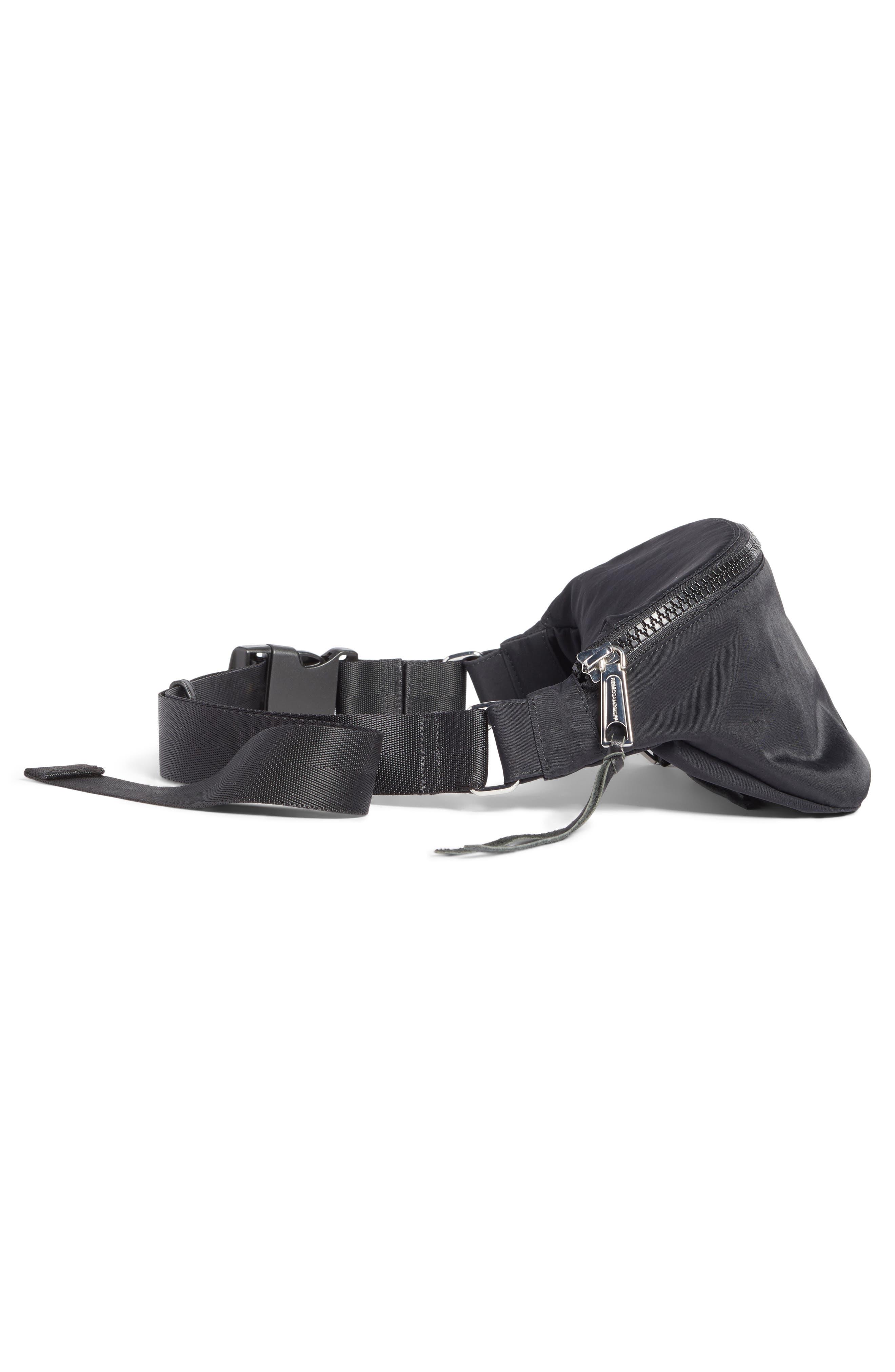 REBECCA MINKOFF, Nylon Belt Bag, Alternate thumbnail 6, color, BLACK