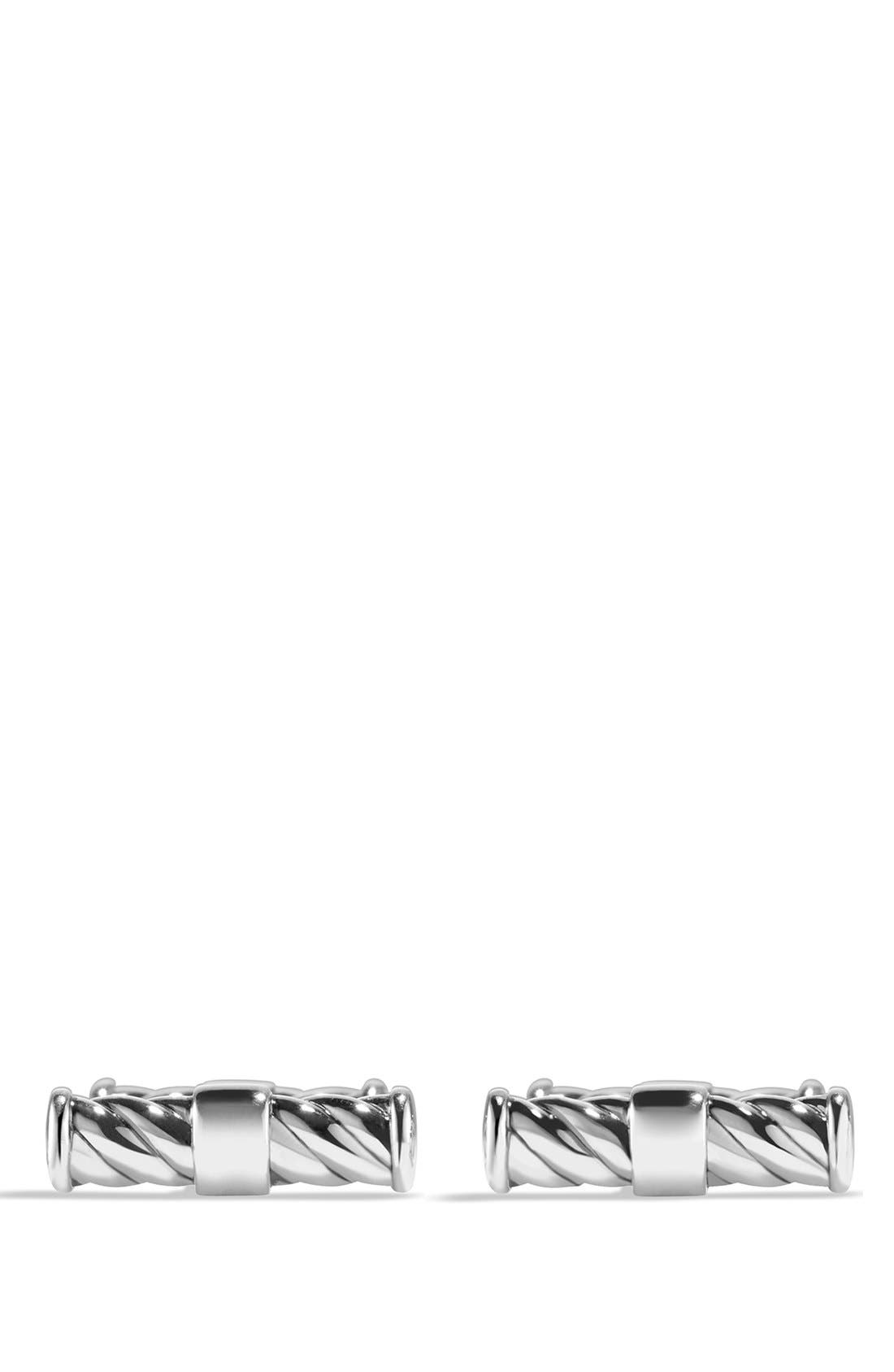DAVID YURMAN, 'Cable Classics' Cuff Links, Alternate thumbnail 2, color, SILVER