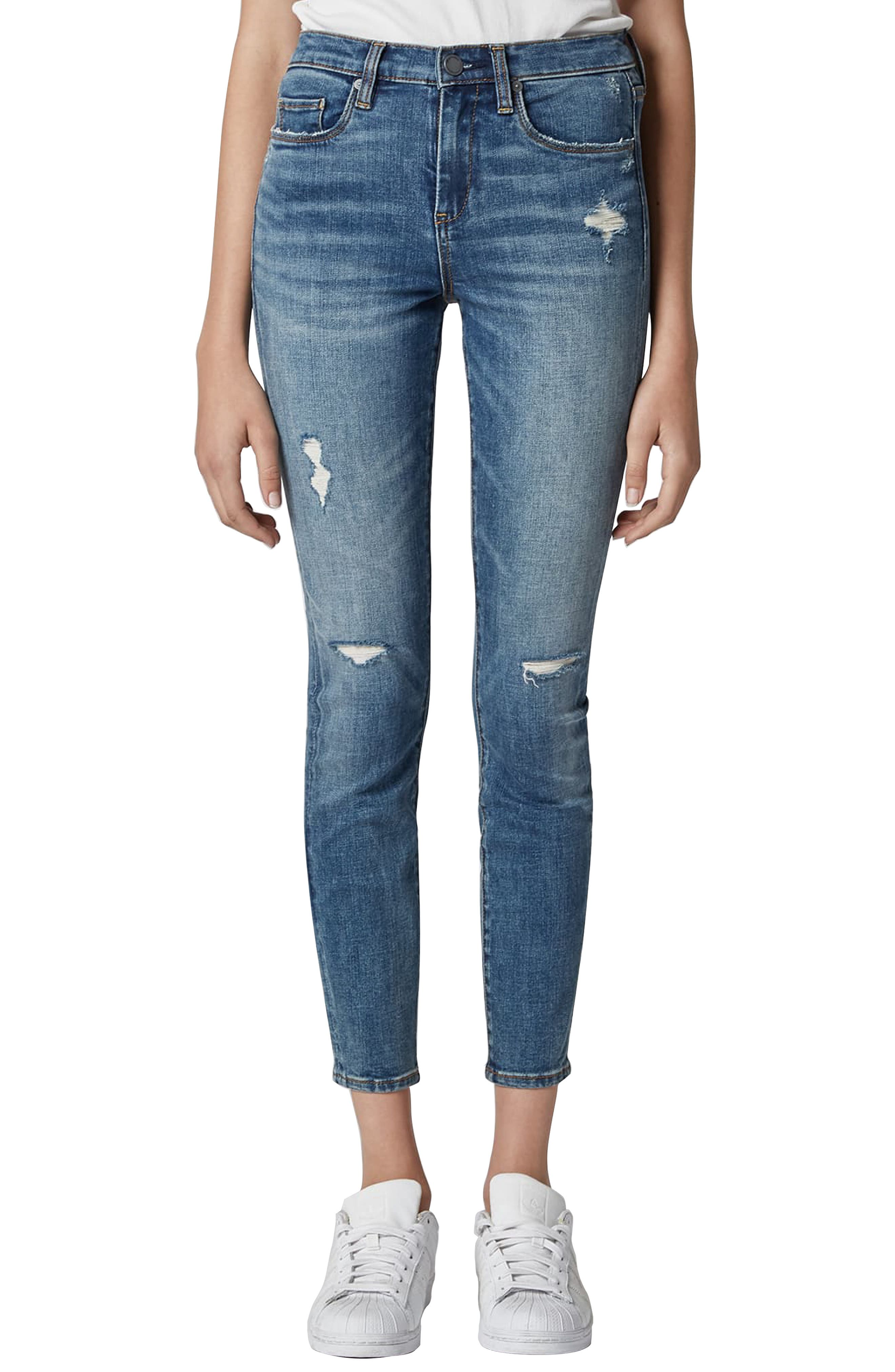 BLANKNYC The Bond Ripped Skinny Jeans, Main, color, JERSEY GIRLS