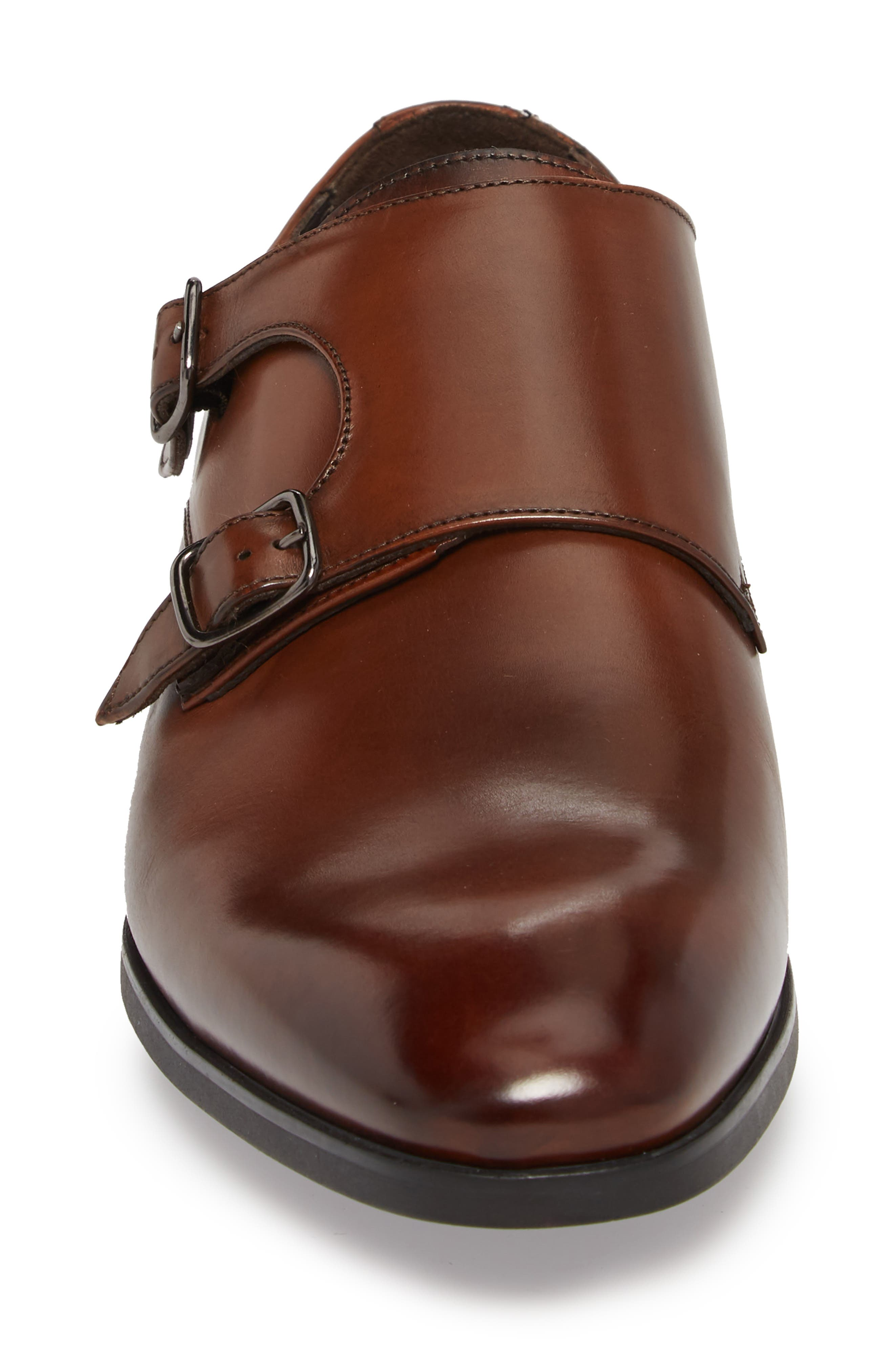 TO BOOT NEW YORK, Benjamin Double Monk Strap Shoe, Alternate thumbnail 4, color, TMORO LEATHER