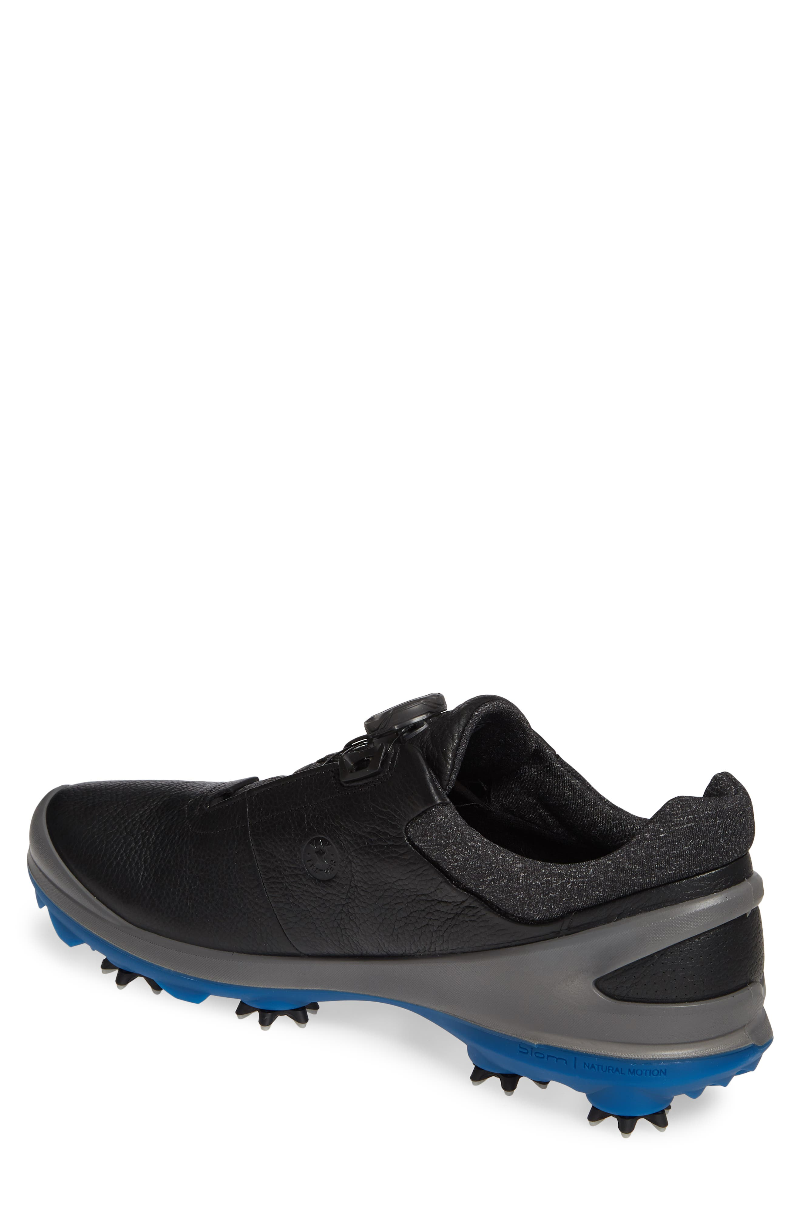 ECCO, BIOM<sup>®</sup> G 3 BOA<sup>®</sup> Gore-Tex<sup>®</sup> Golf Shoe, Alternate thumbnail 2, color, BLACK LEATHER