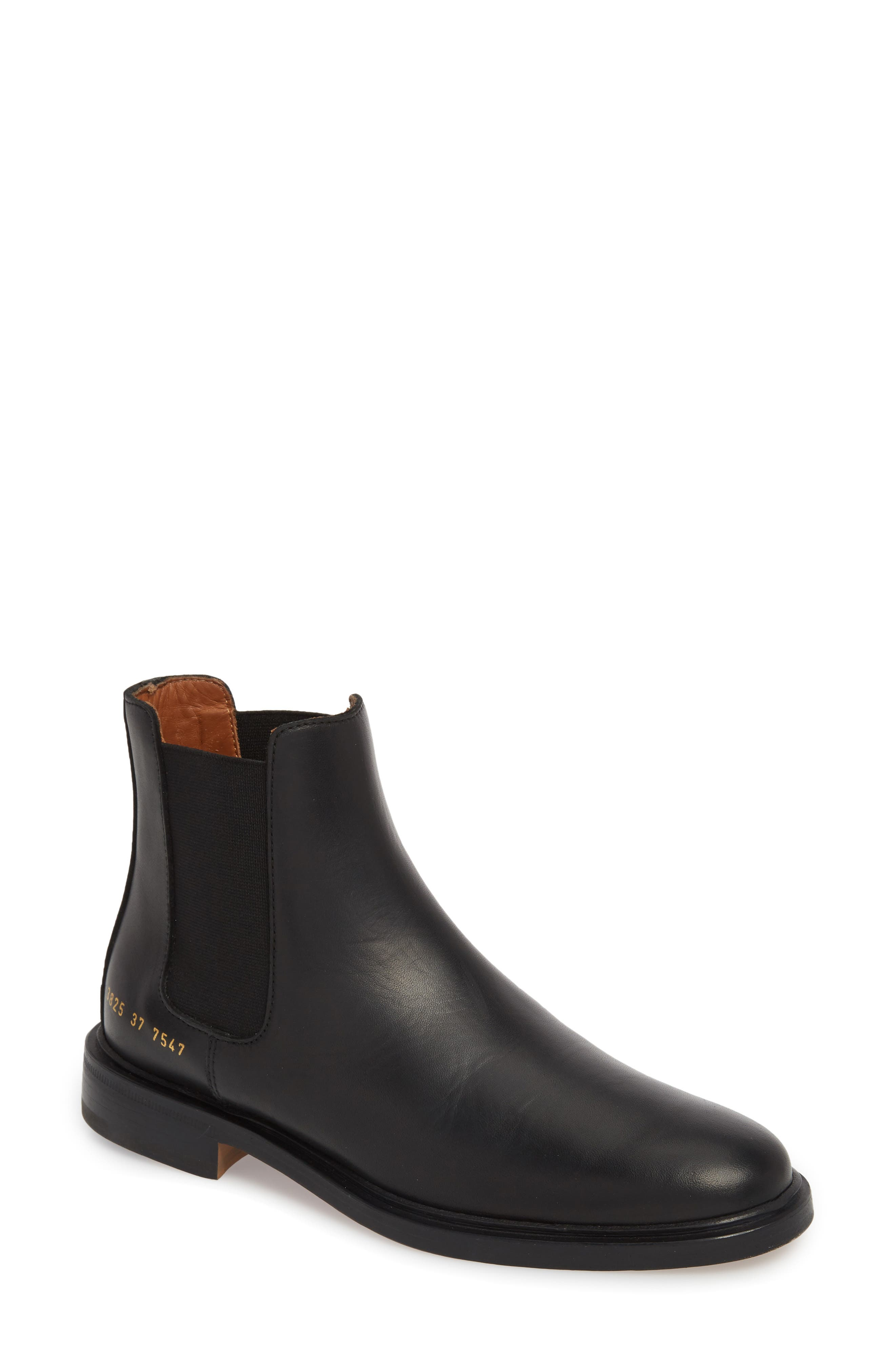 COMMON PROJECTS, Chelsea Boot, Main thumbnail 1, color, BLACK