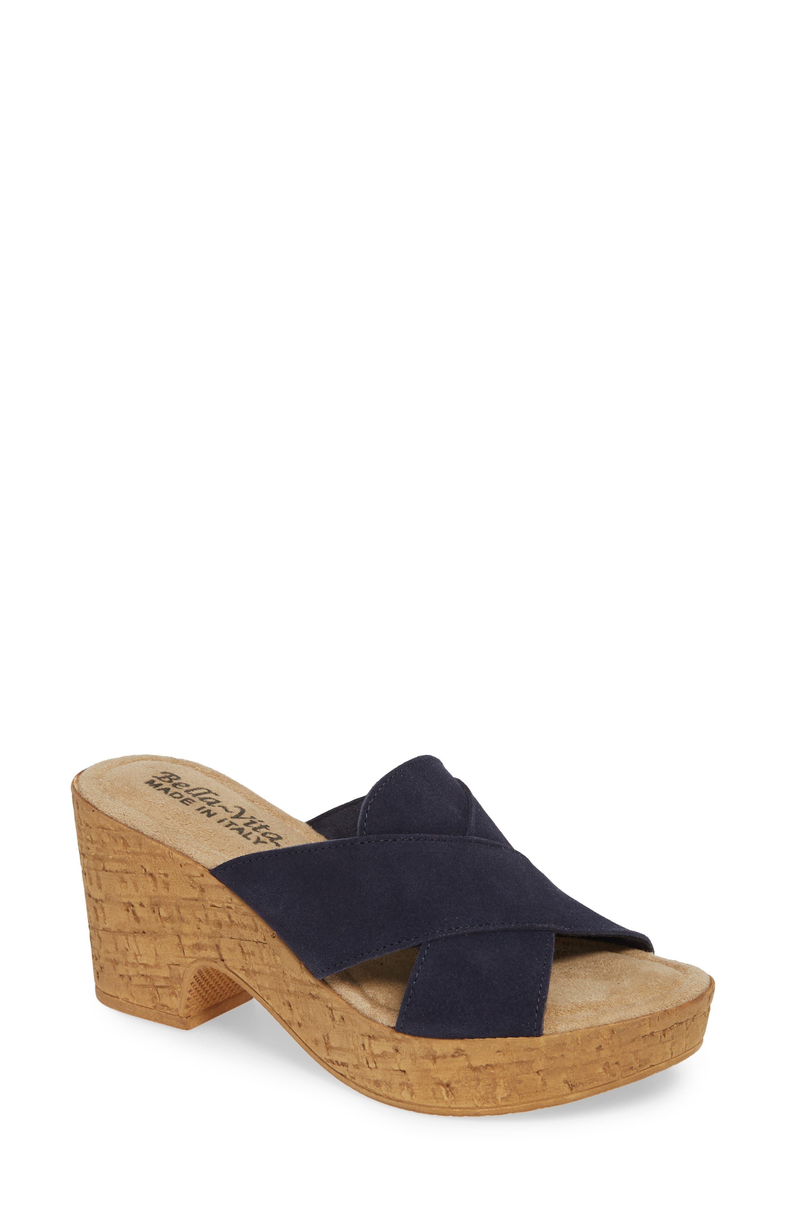 Bella Vita Platform Sandal, Blue