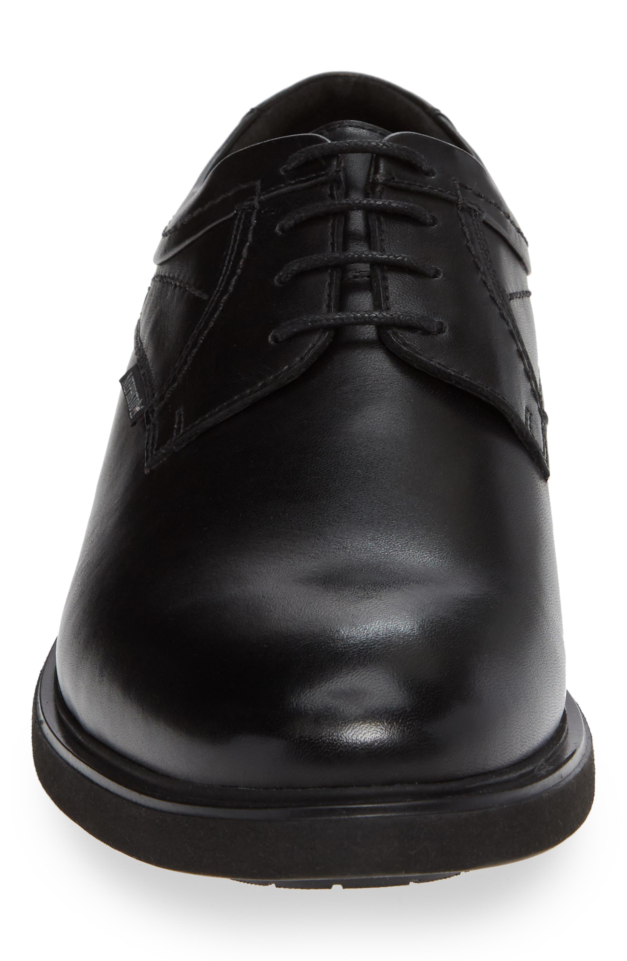 MEPHISTO, Olivio Plain Toe Derby, Alternate thumbnail 4, color, BLACK LEATHER