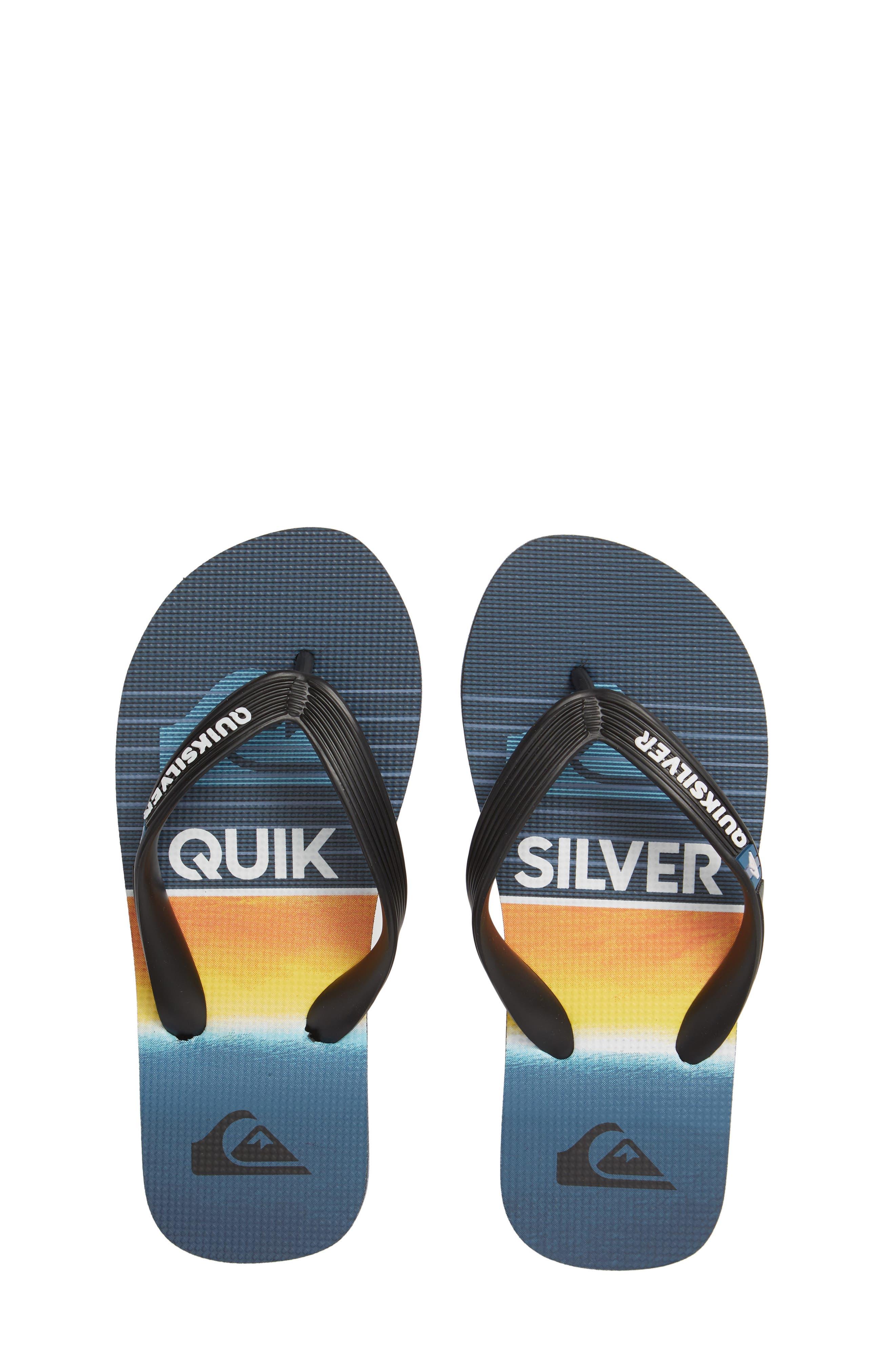QUIKSILVER Highline Slab Flip Flop, Main, color, BLACK/ BLUE/ BLUE
