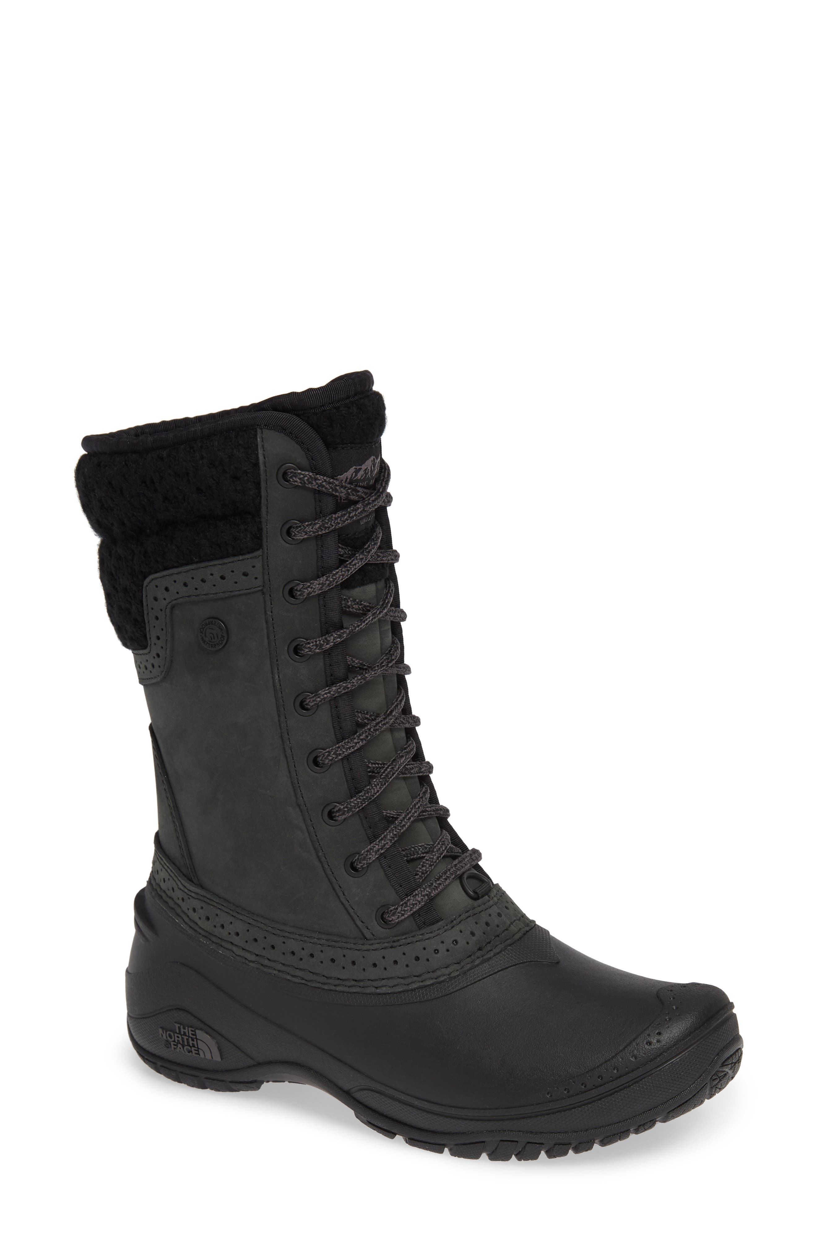 The North Face Shellista Waterproof Insulated Snow Boot, Black